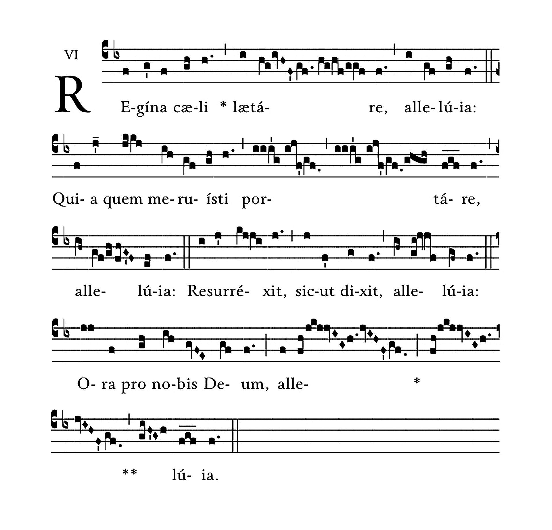 Regina Caeli (tonus solemnis)