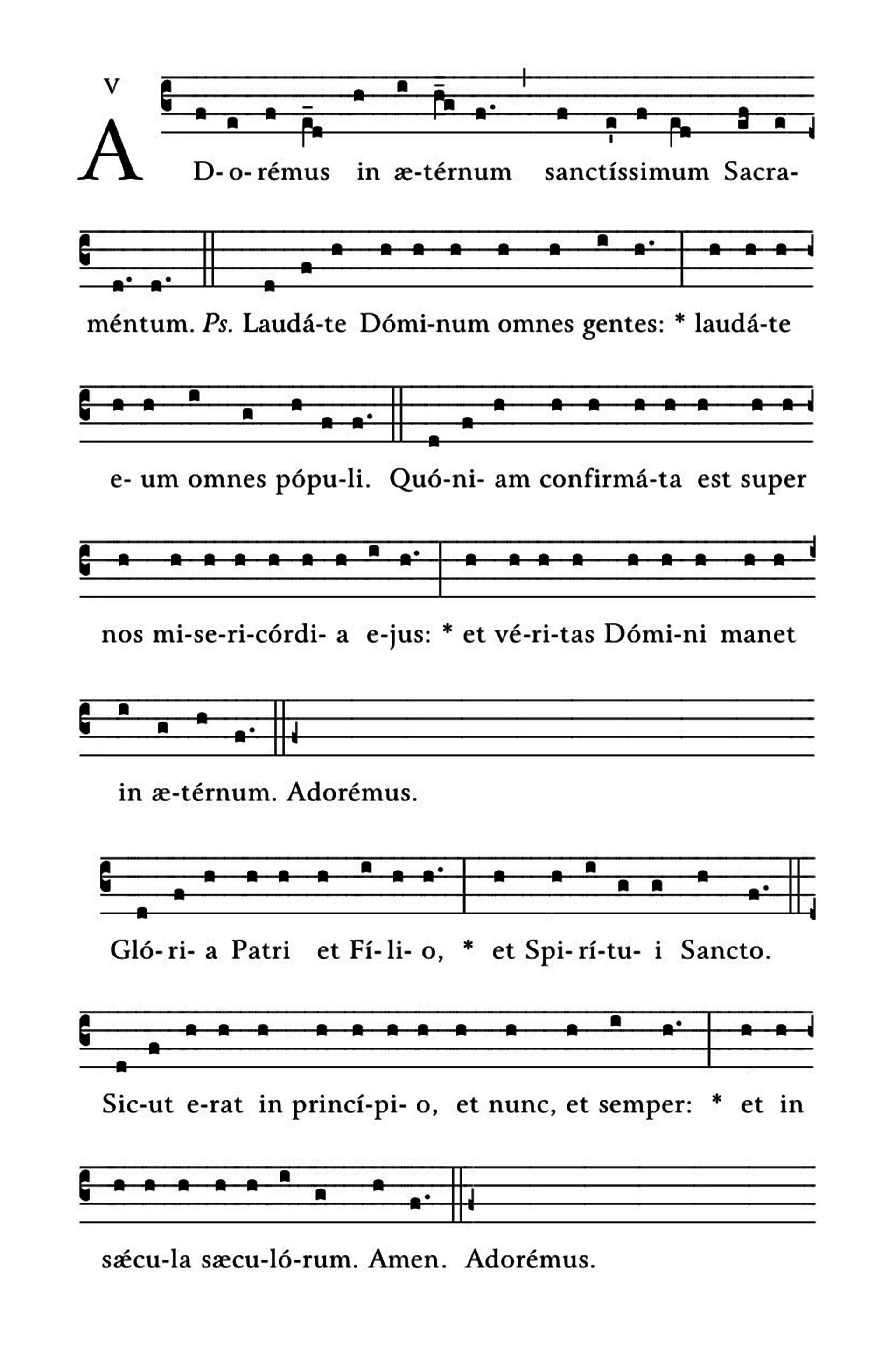 Adoremus in aeternum - notacja
