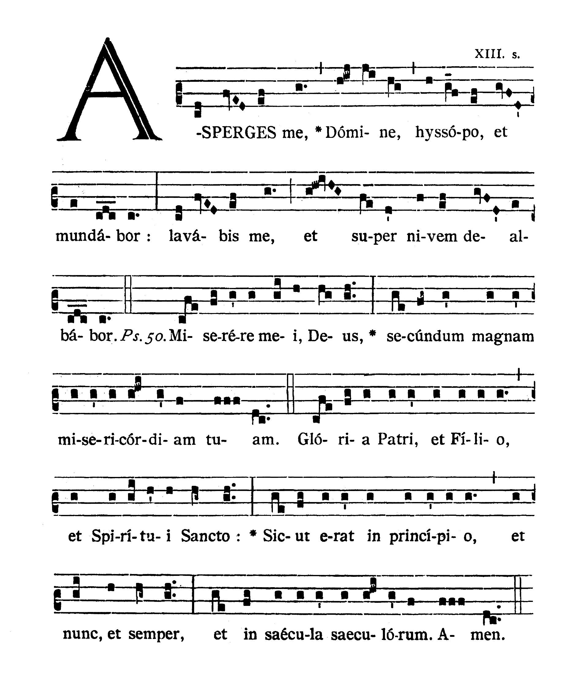 Asperges me - notation