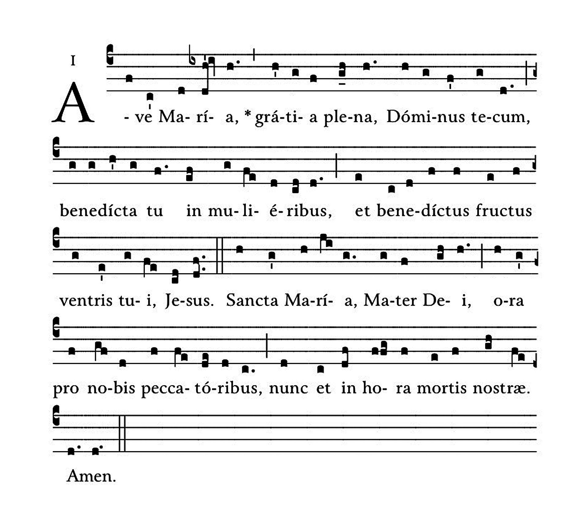 Ave Maria - notacja