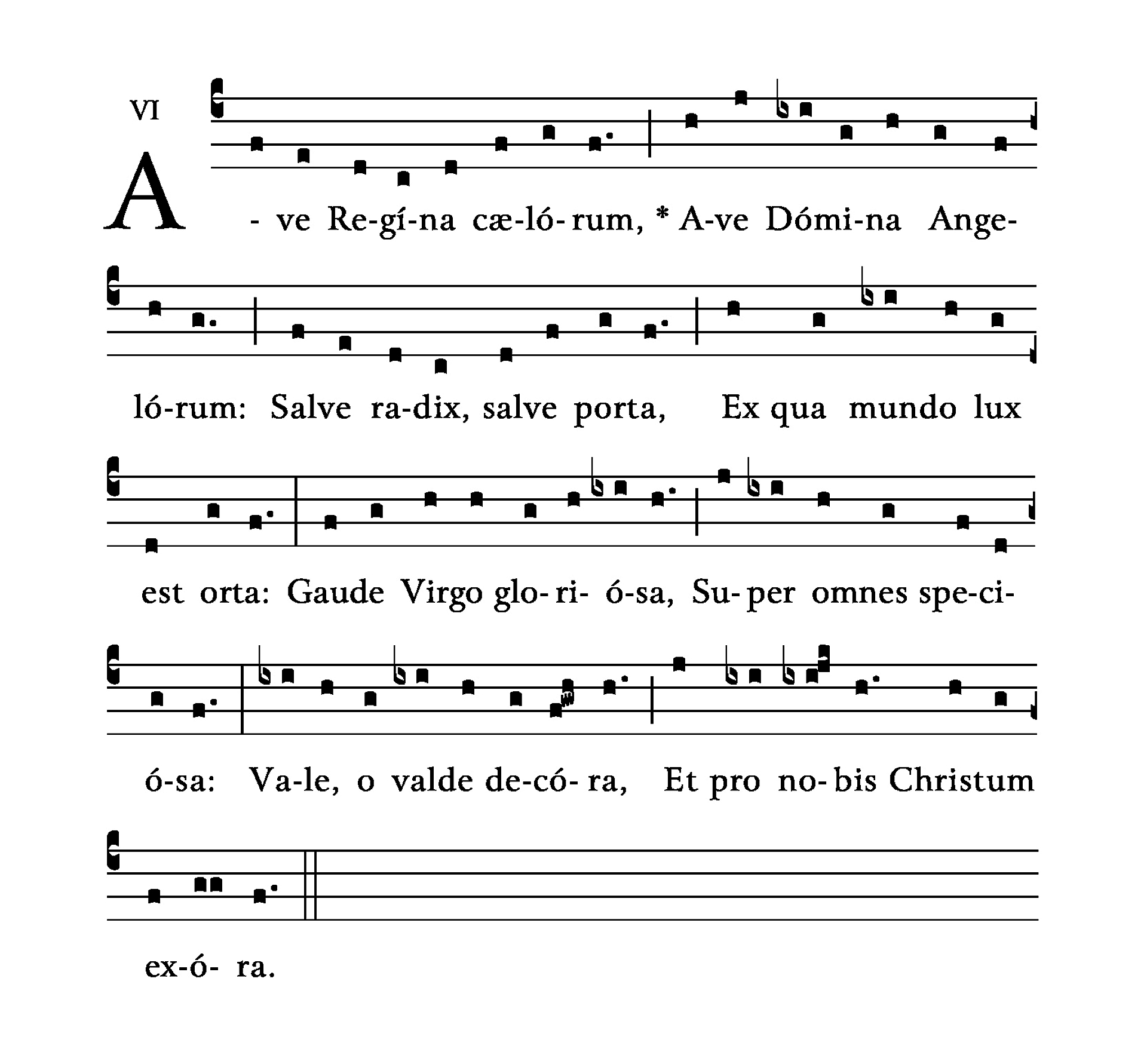 Ave Regina Caelorum - notation