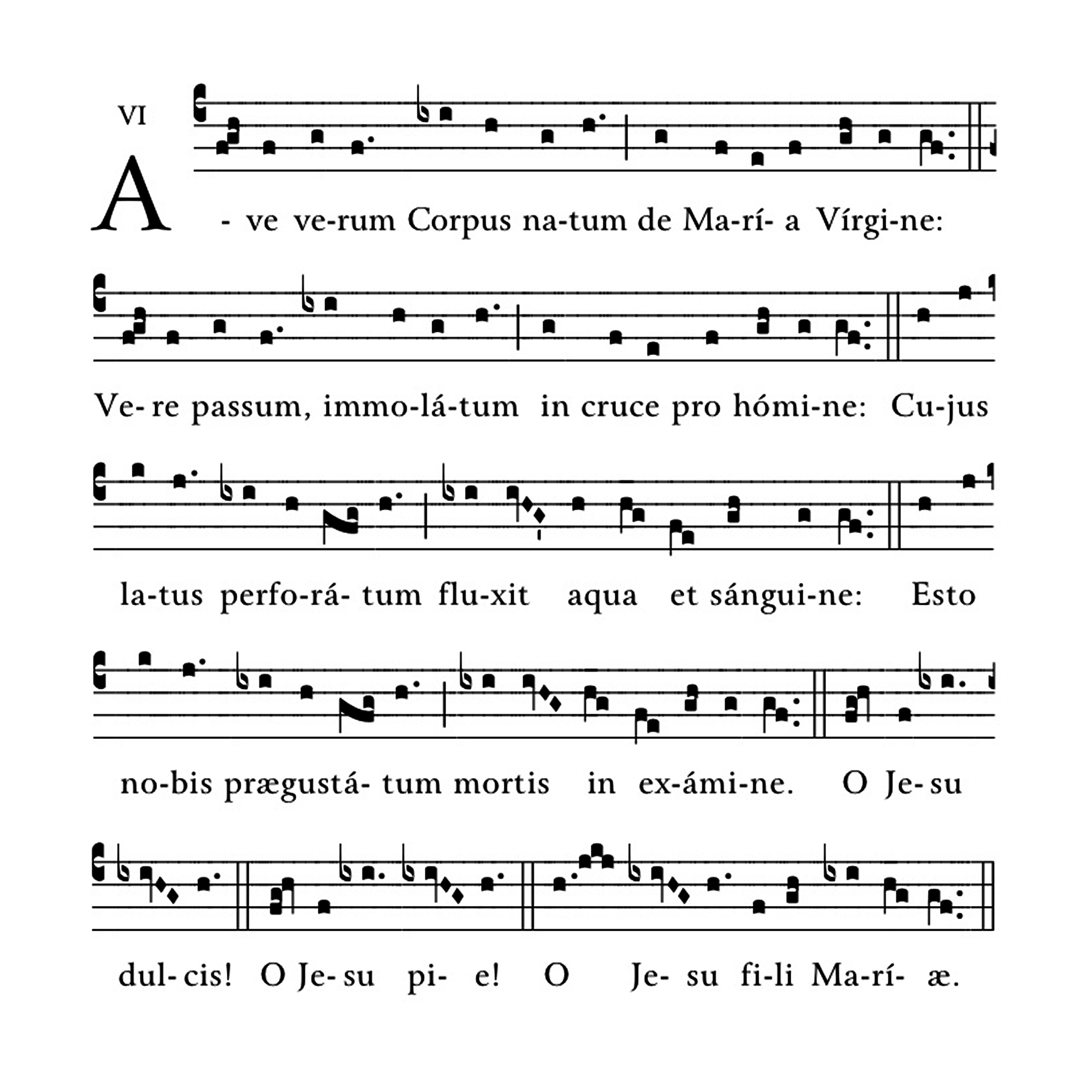 Ave verum Corpus - notacja