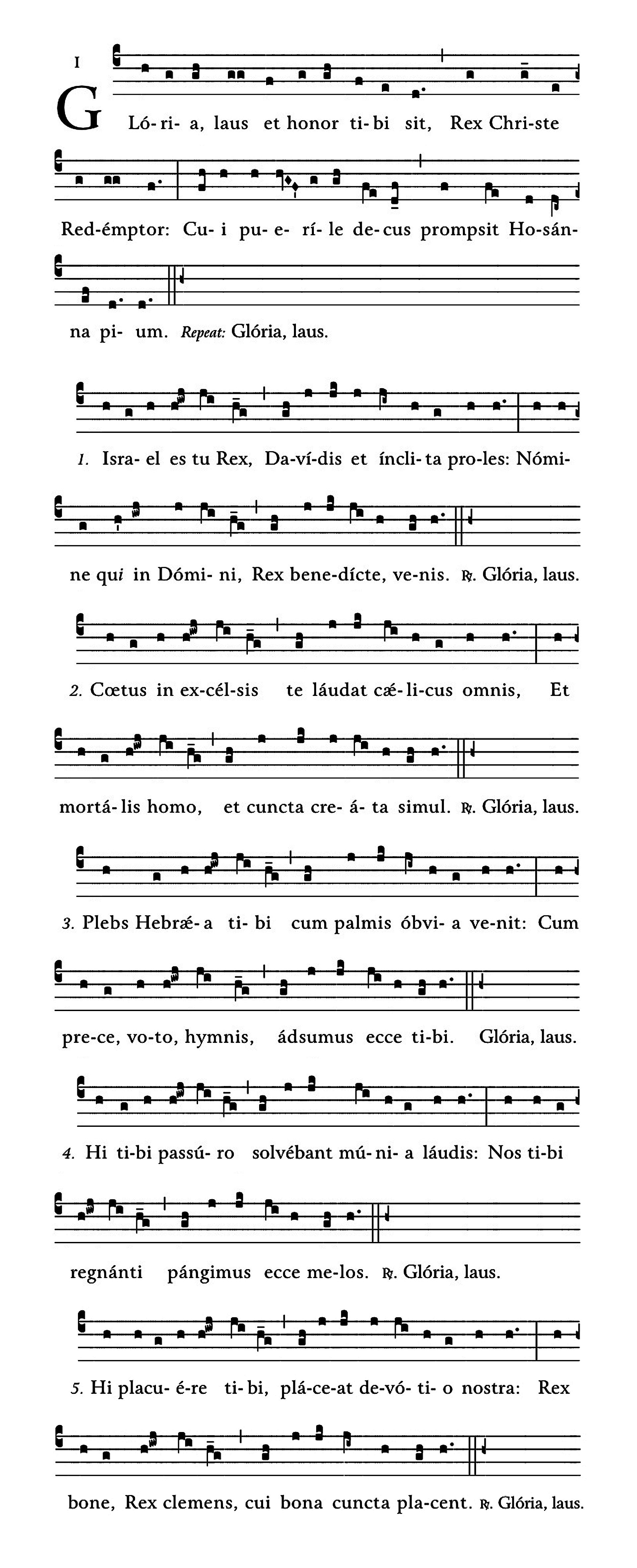 Gloria laus - notacja
