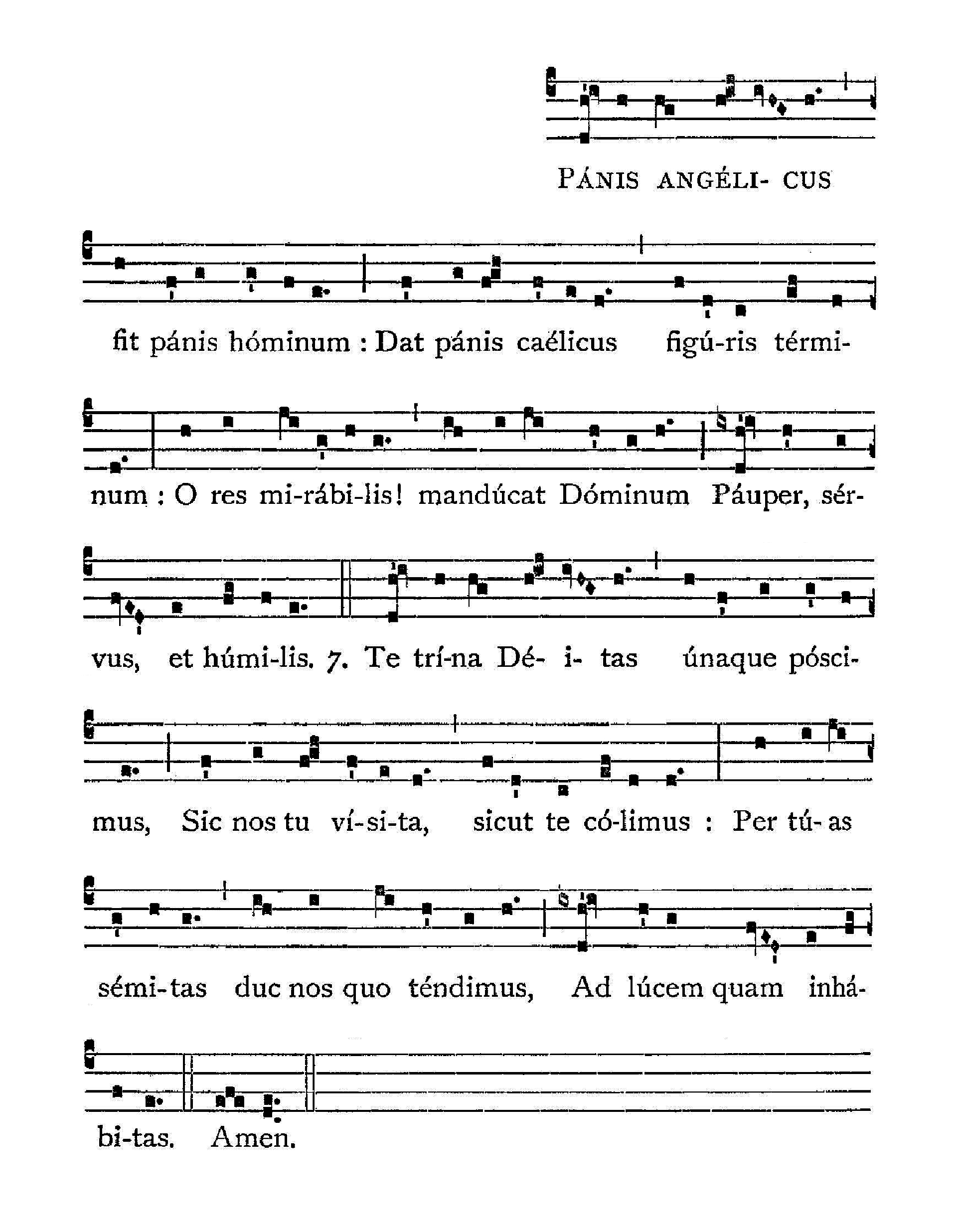 Panis angelicus - notation