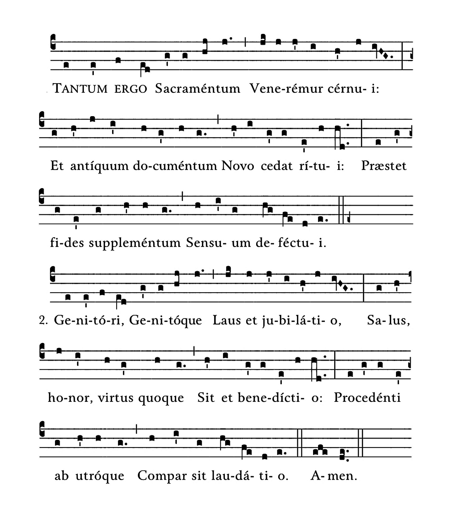Tantum ergo sacramentum - notation