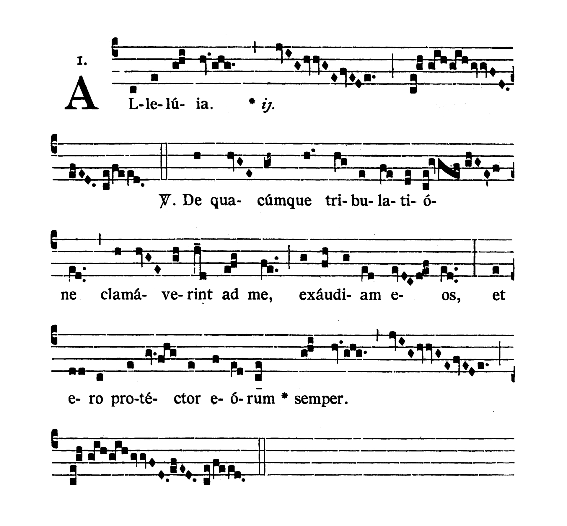 Sancti Joseph the Worker Opificis Sponsis Beatae Mariae Virginis Confessoris (Saint Joseph Spouse of the Blessed Virgin Mary Confessor) - Alleluia (De quacumque tribulatione)