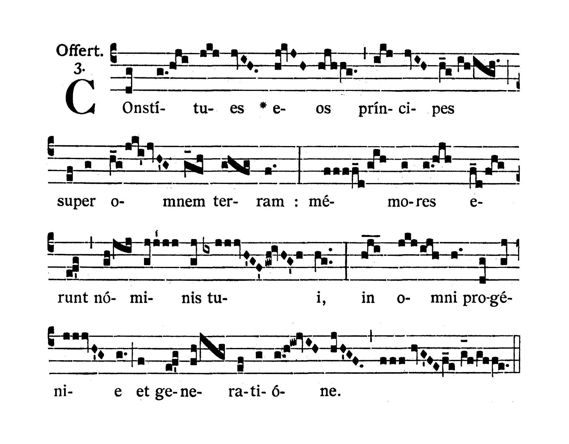 Sanctorum Apostolorum Petri et Pauli (Saints Peter and Paul Apostles) - Offertorium (Constitues eos principes)