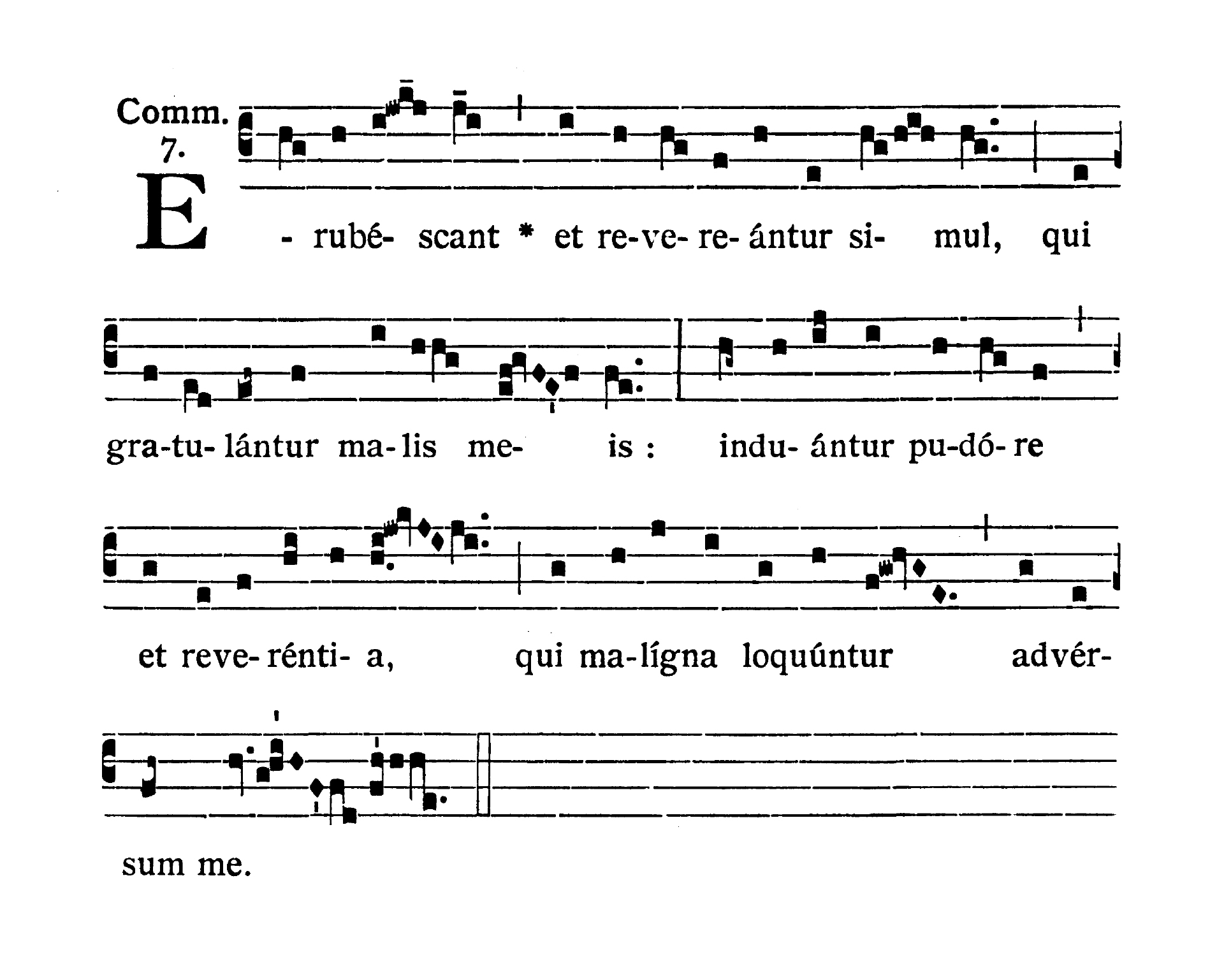 Feria II Hebdomadae Sanctae (Wielki Poniedziałek) - Communio (Erubescant et revereantur)