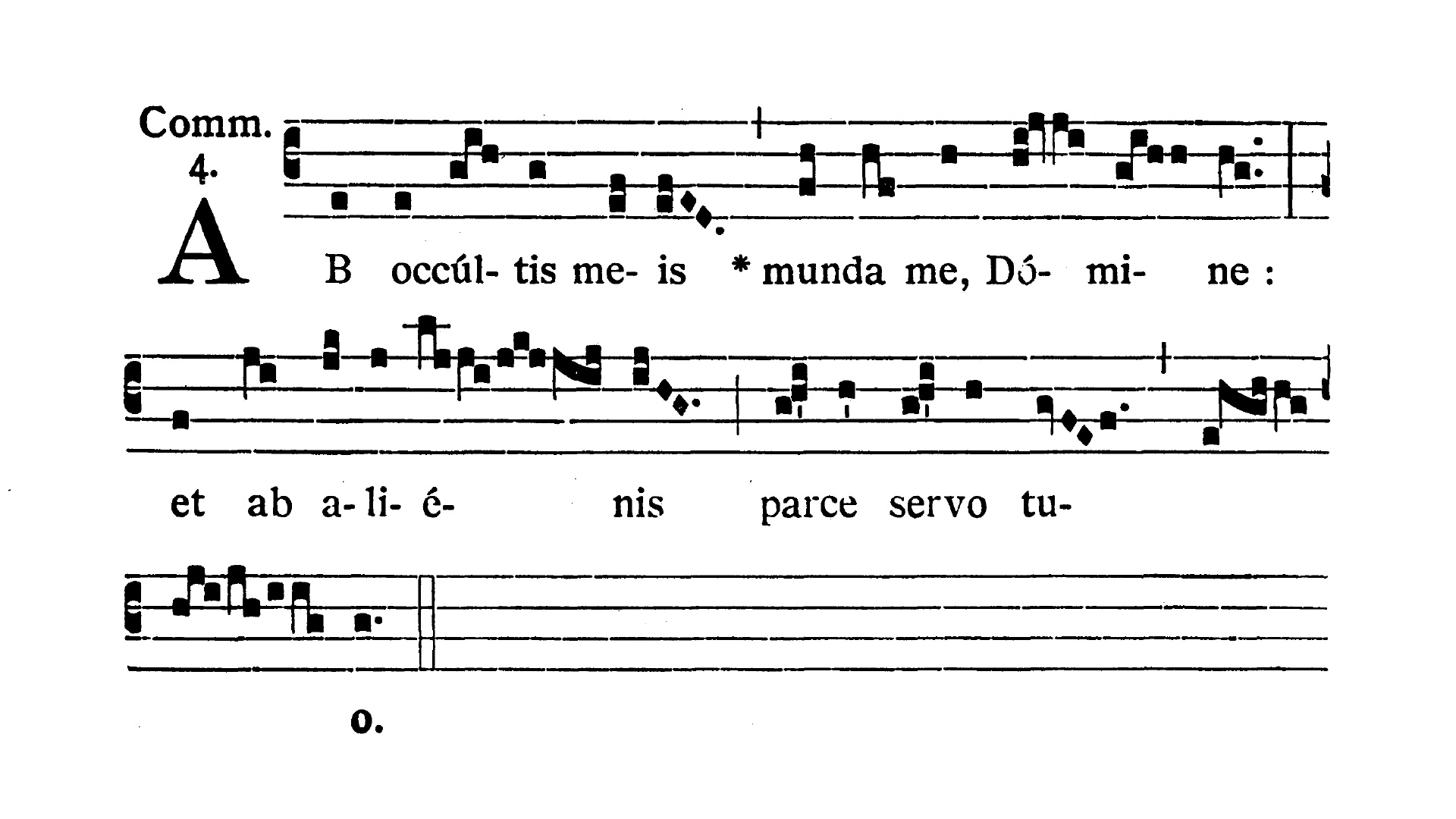 Feria II post Dominicam IV Quadragesimae (Monday after Fourth Sunday of Lent) - Communio (Ab occultis meis)