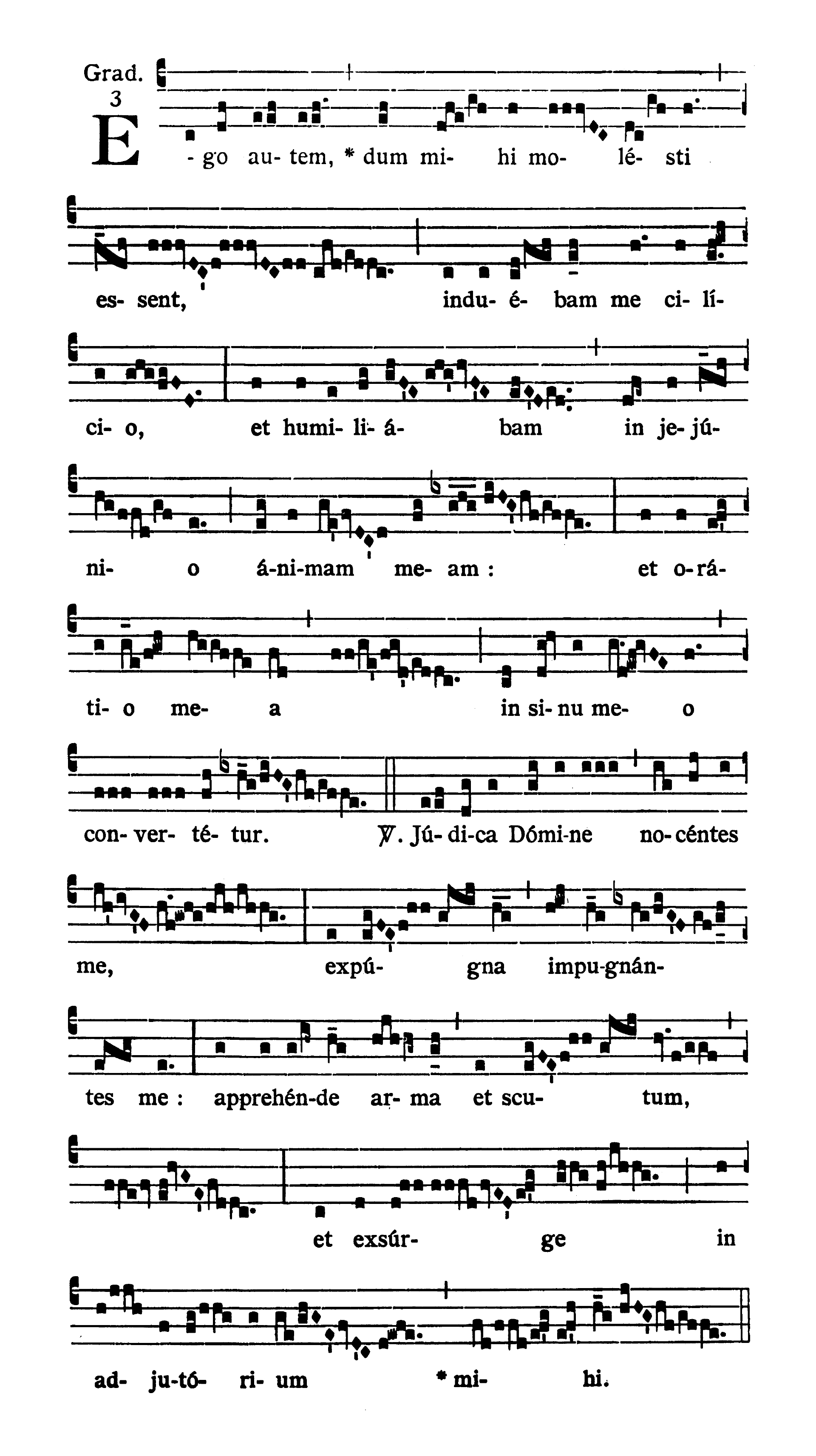 Feria III Hebdomadae Sanctae (Tuesday of Holy Week) - Graduale (Ego autem)