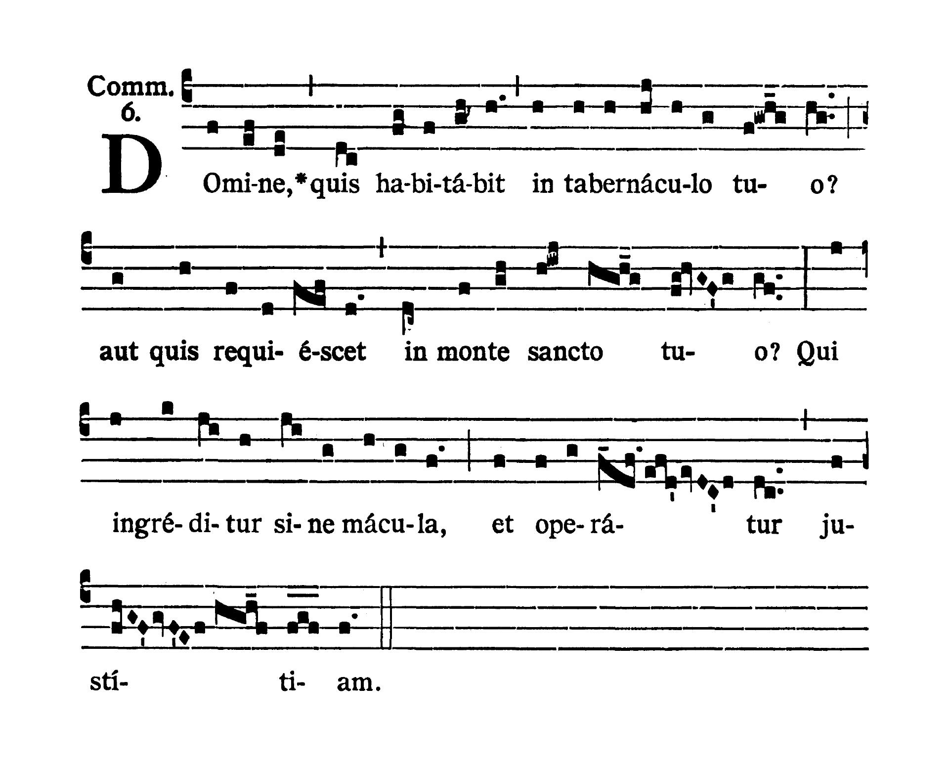 Feria III post Dominicam III Quadragesimae (Wtorek po III Niedzieli Wielkiego Postu) - Communio (Domine quis habitabit)