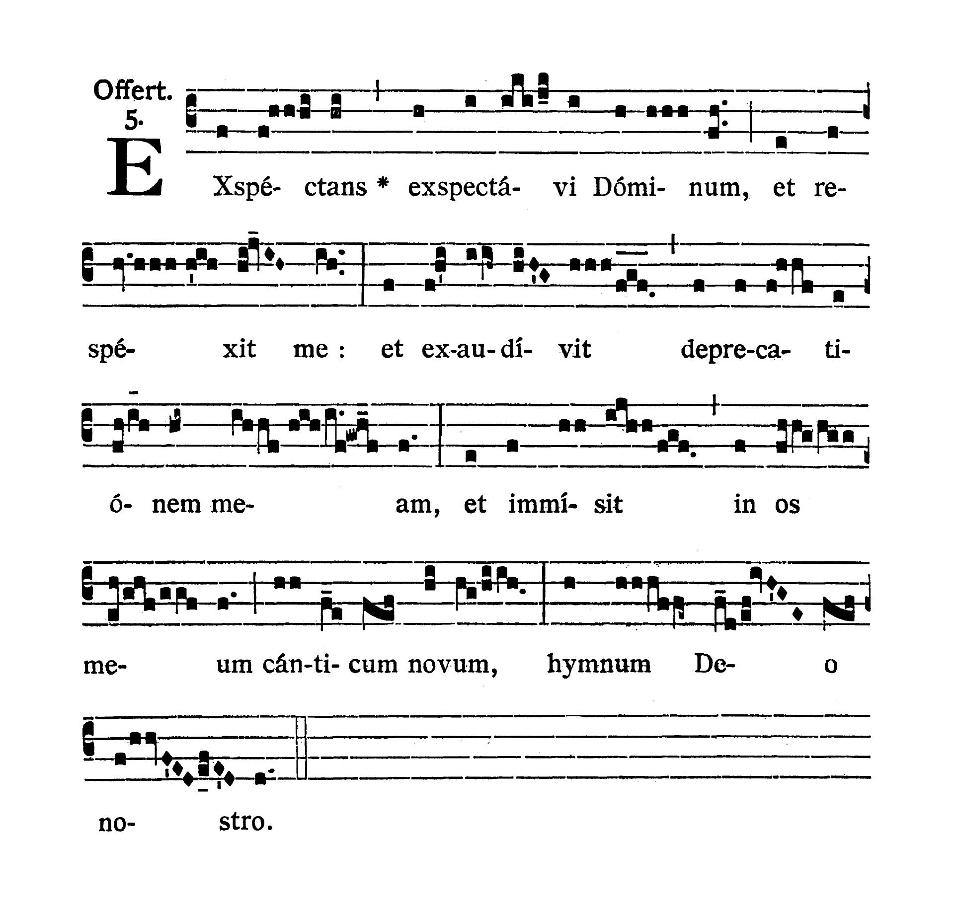 Feria III post Dominicam IV Quadragesimae (Wtorek po IV Niedzieli Wielkiego Postu) - Offertorium (Exspectans exspectavi)