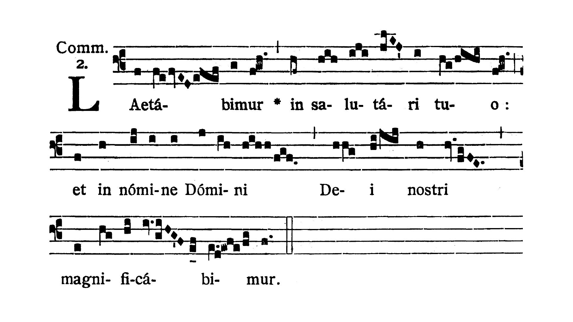 Feria III post Dominicam IV Quadragesimae (Wtorek po IV Niedzieli Wielkiego Postu) - Communio (Laetabimur in salutare tuo)