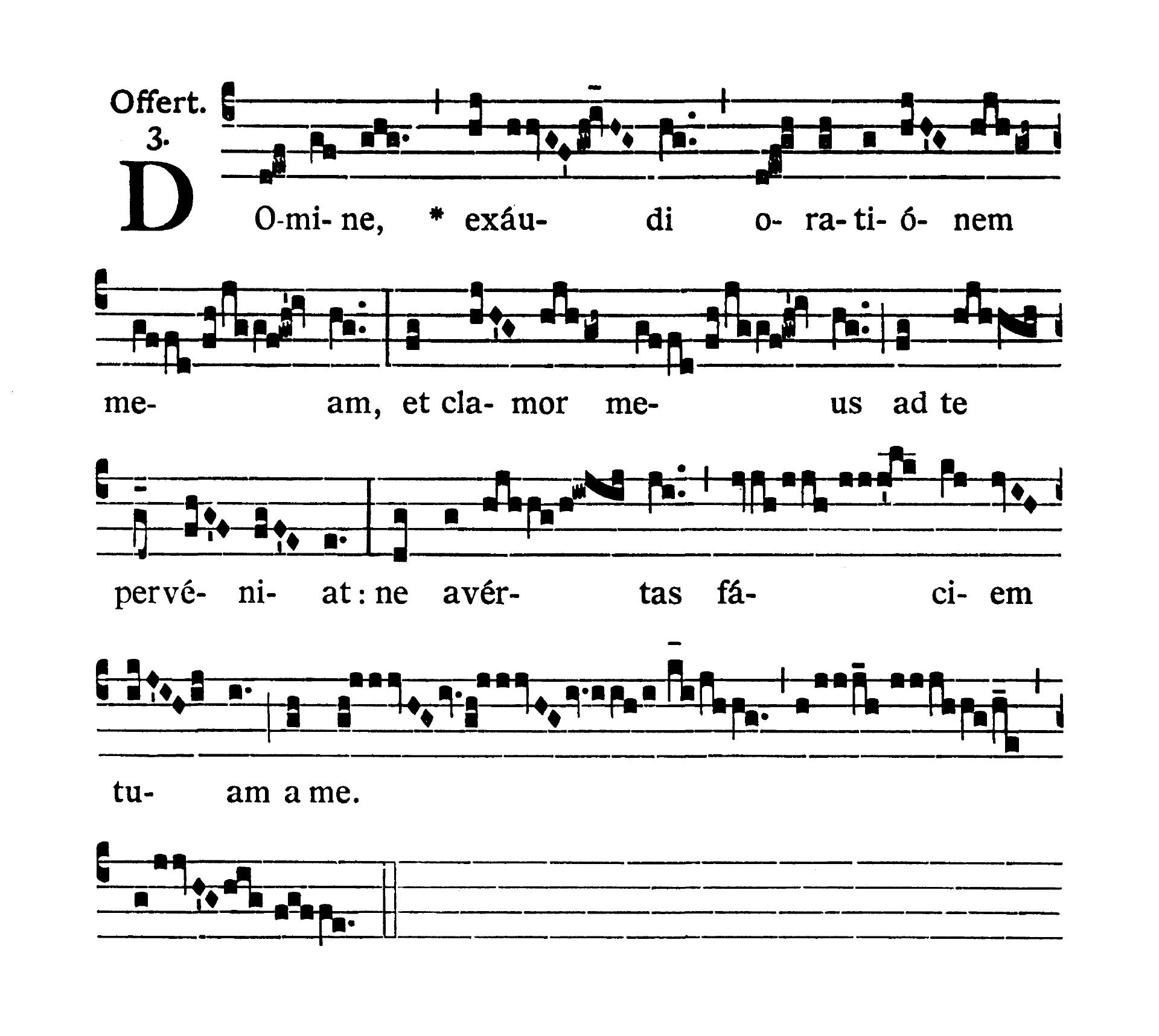 Feria IV Hebdomadae Sanctae (Wielka Środa) - Offertorium (Domine exaudi orationem meam)
