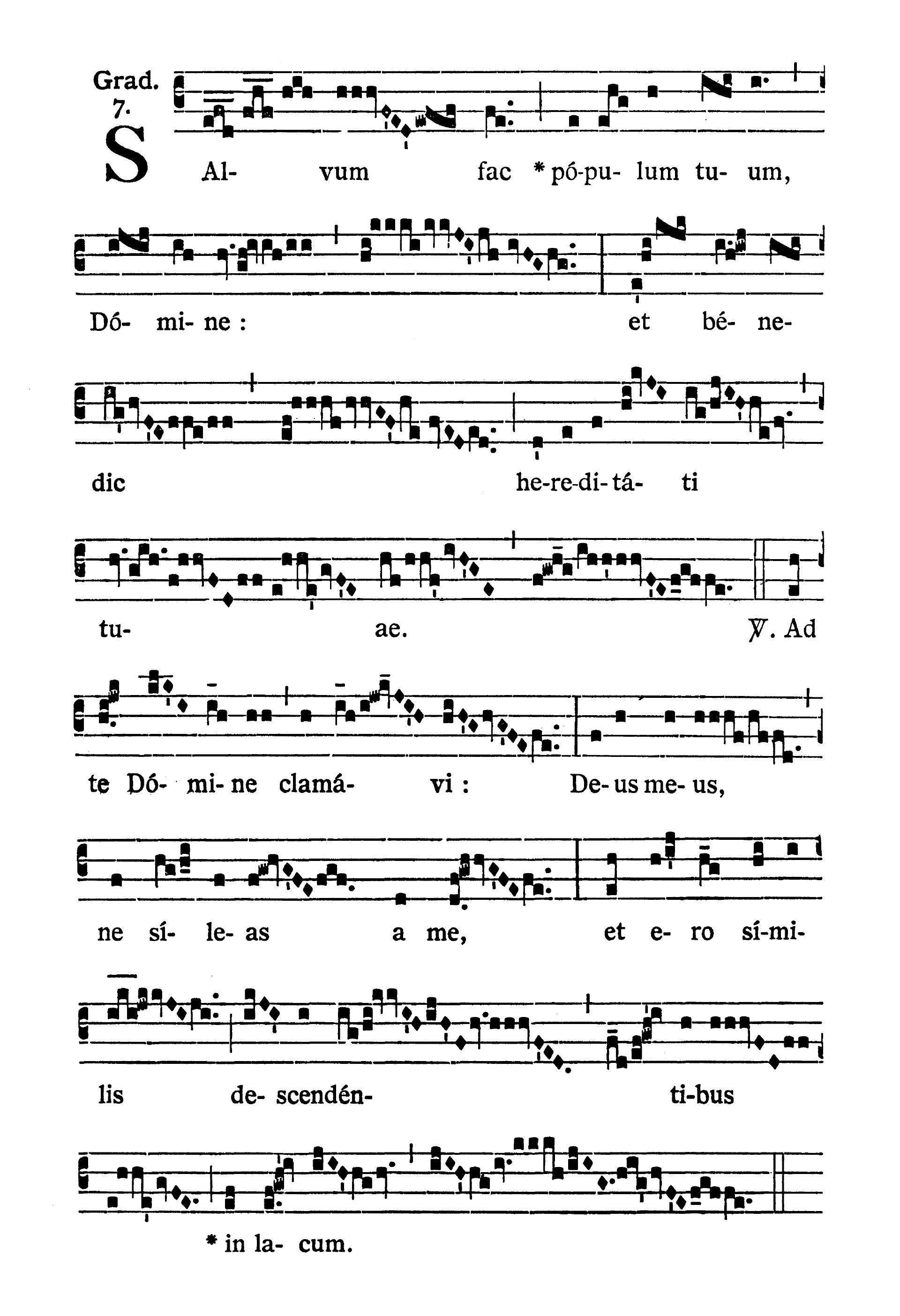 Feria IV post Dominicam II Quadragesimae (Środa po II Niedzieli Wielkiego Postu) - Graduale (Salvum fac)