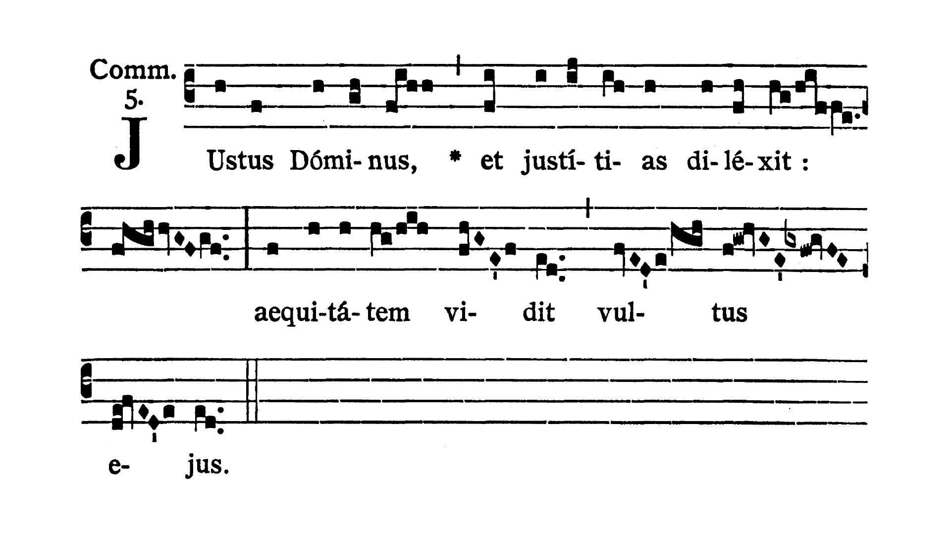 Feria IV post Dominicam II Quadragesimae (Środa po II Niedzieli Wielkiego Postu) - Communio (Iustus Dominus)