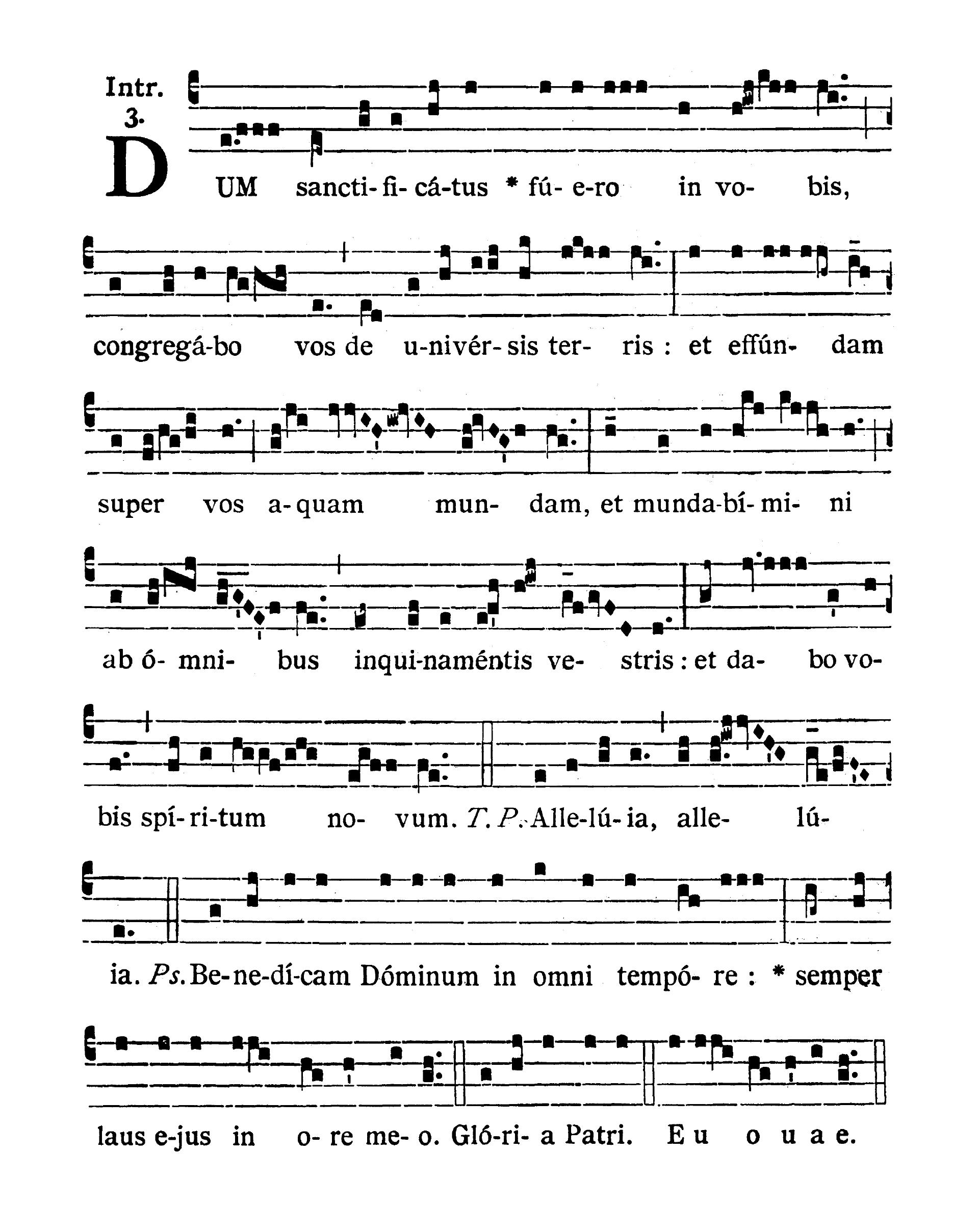 Feria IV post Dominicam IV Quadragesimae (Wednesday after Fourth Sunday of Lent) - Introitus (Dum sanctificatus)