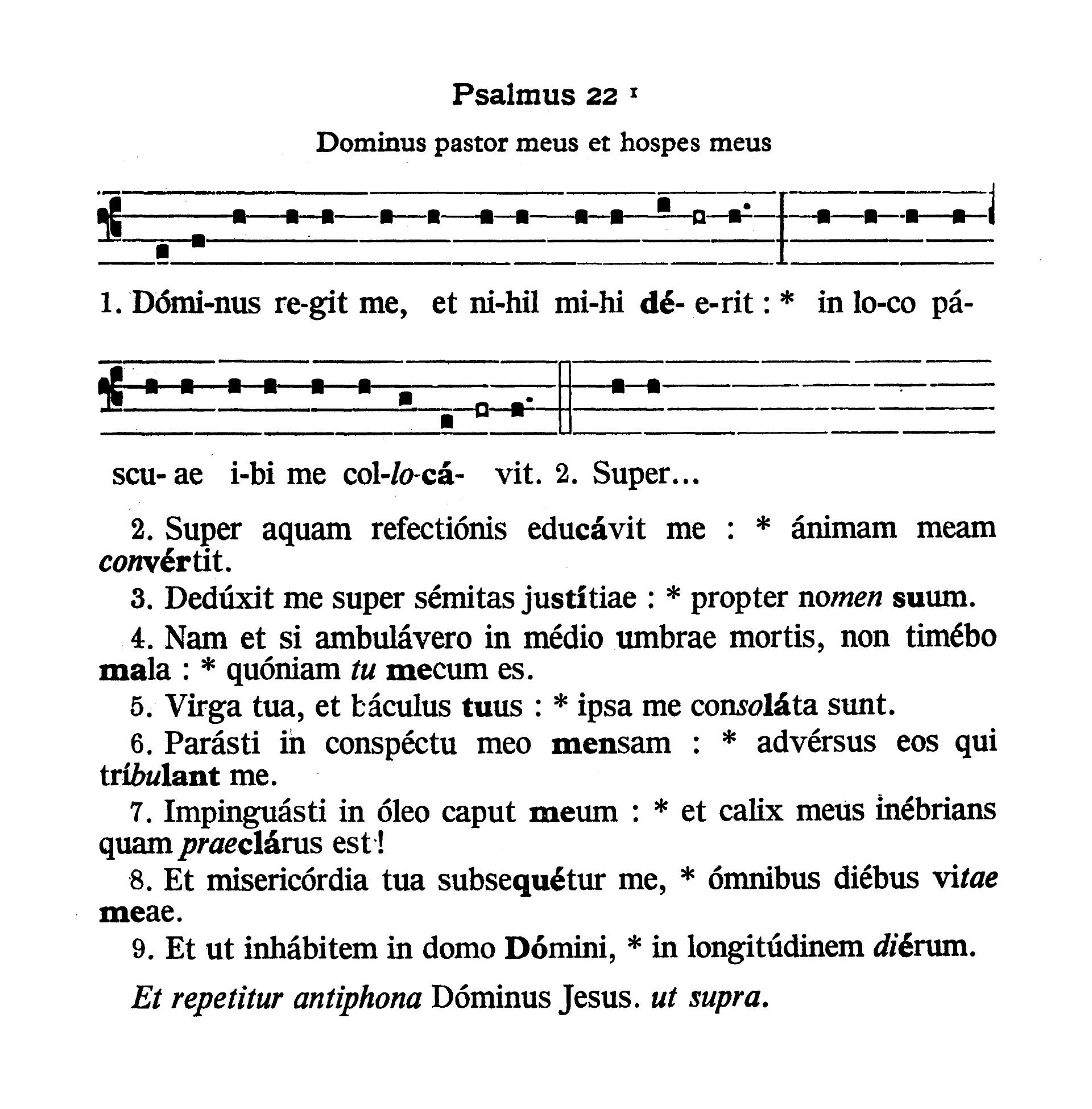 Feria V in Cena Domini (Holy Thursday) - Psalmus (Dominus regit me)