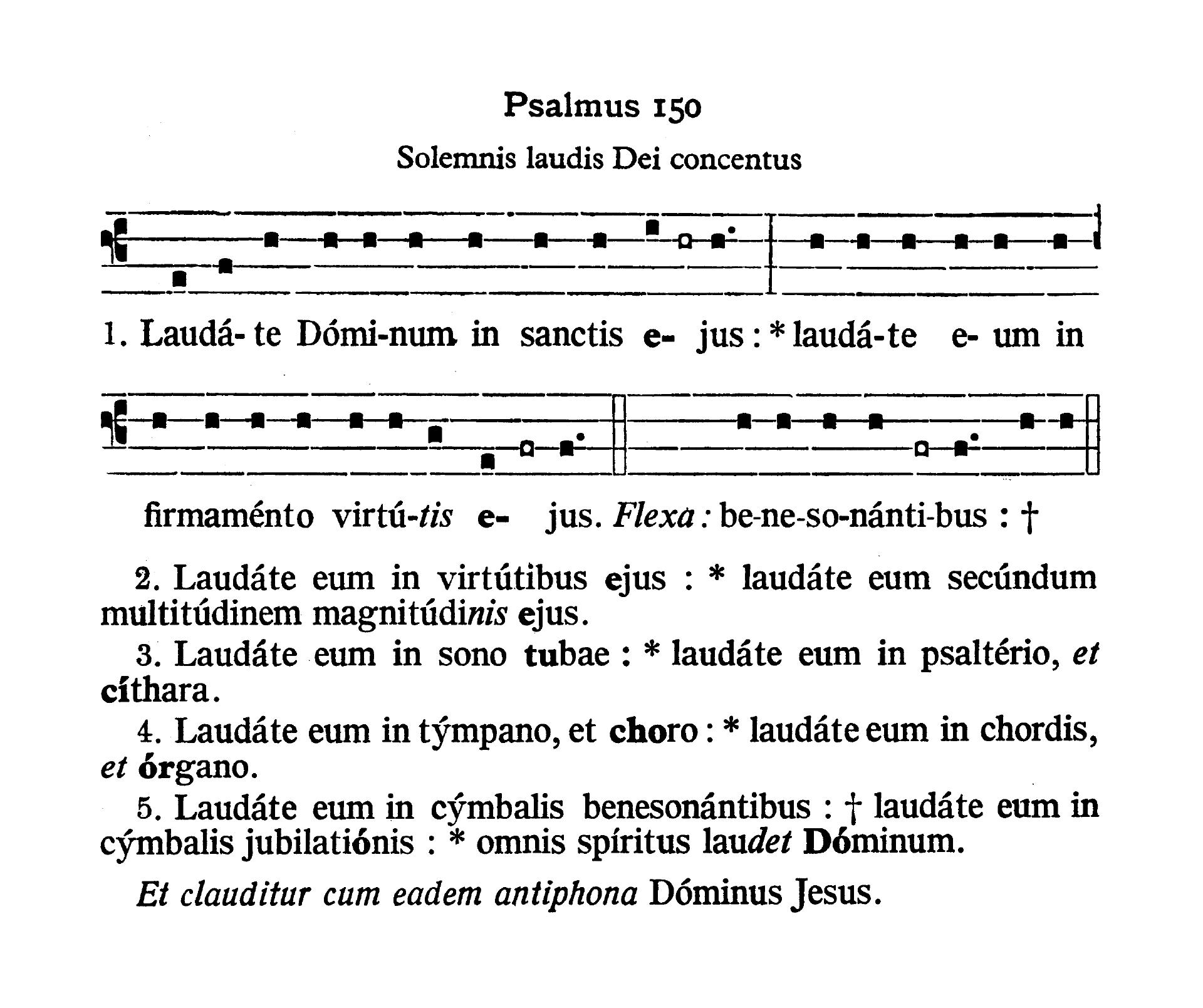 Feria V in Cena Domini (Holy Thursday) - Psalmus (Laudate Dominum)