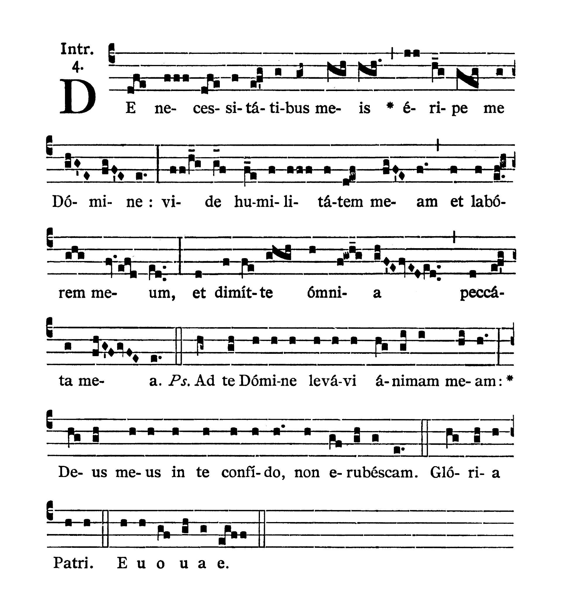 Feria VI Quatuor Temporum Quadragesimae (Piątek suchych dni Wielkiego Postu) - Introitus (De necessitatibus meis)