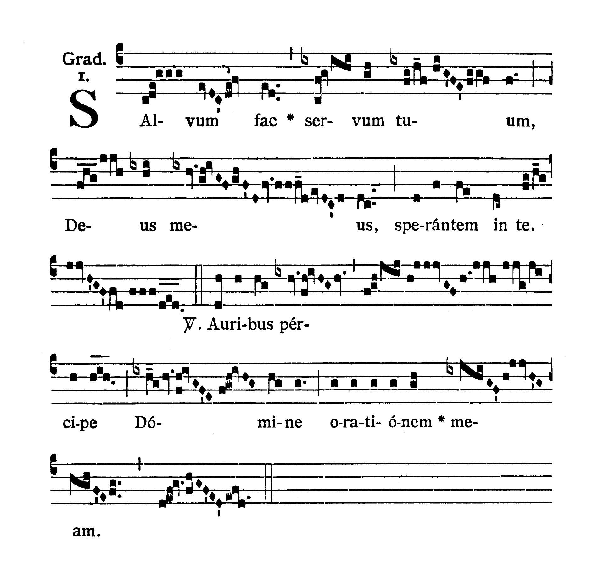 Feria VI Quatuor Temporum Quadragesimae (Piątek suchych dni Wielkiego Postu) - Graduale (Salvum fac)