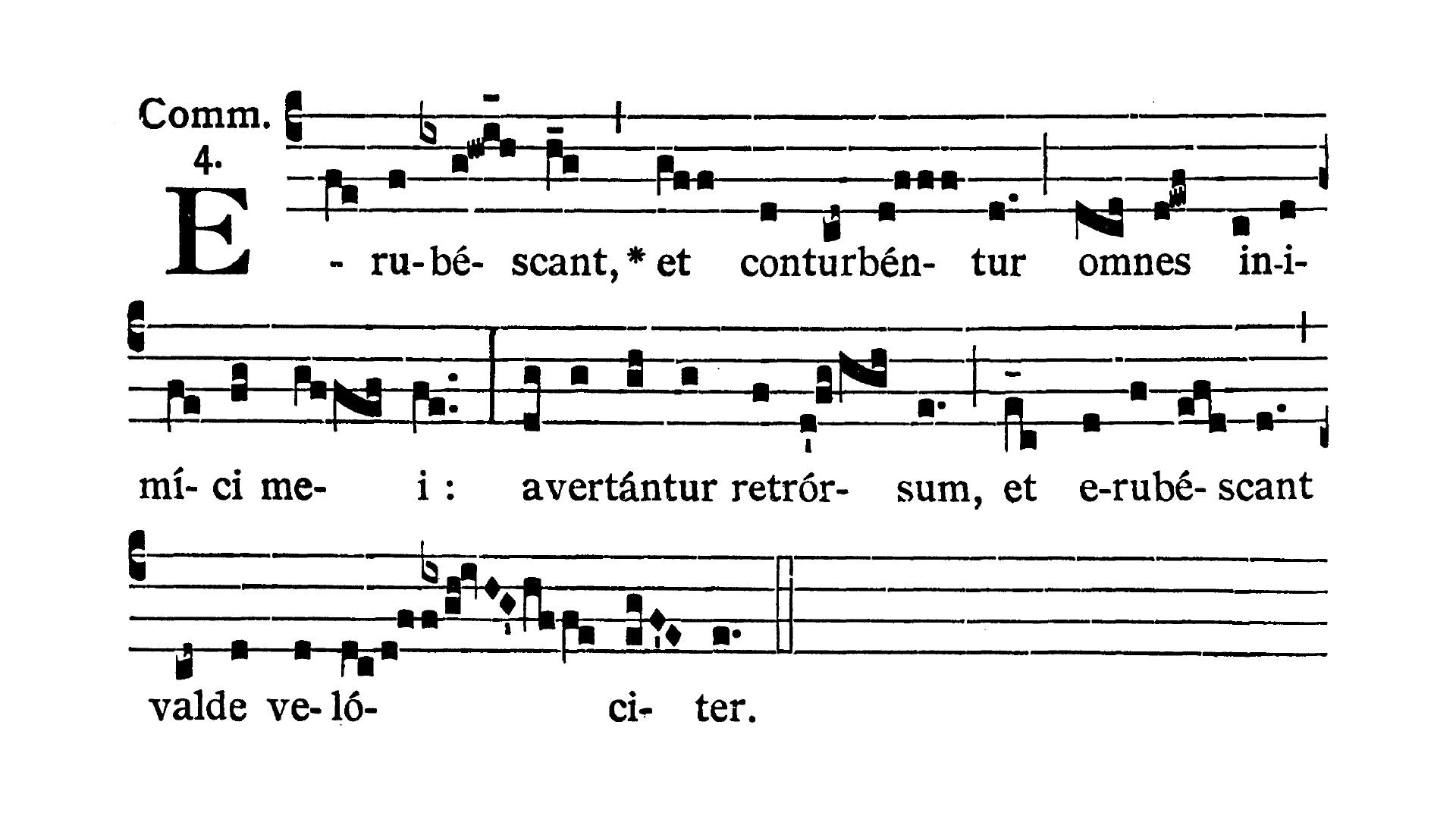 Feria VI Quatuor Temporum Quadragesimae (Piątek suchych dni Wielkiego Postu) - Communio (Erubescant et conturbentur)