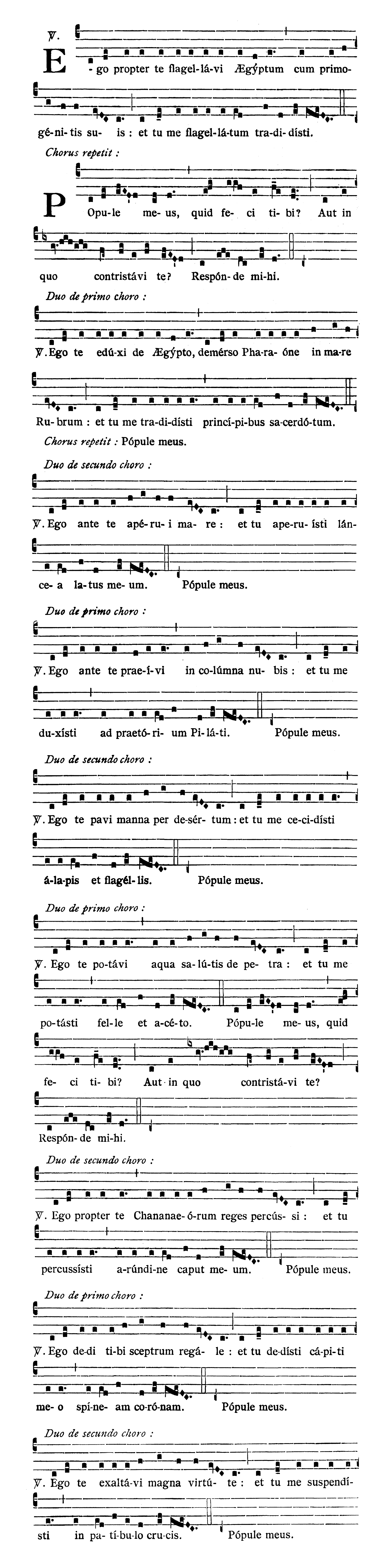 Feria VI in Passione et Morte Domini (Good Friday) - Ego propter te flagellavi