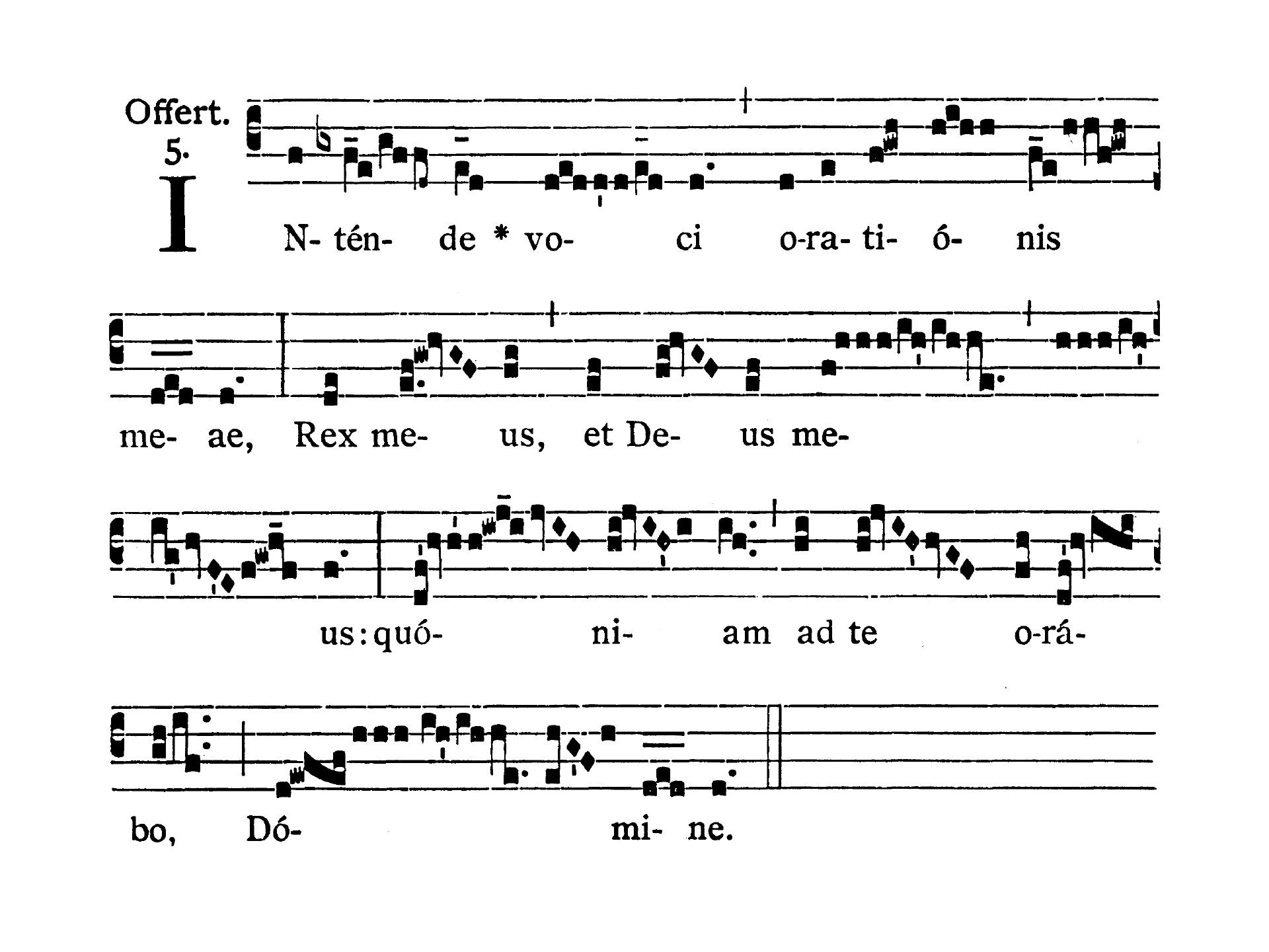 Feria VI post Dominicam III Quadragesimae (Piątek po III Niedzieli Wielkiego Postu) - Offertorium (Intende voci)