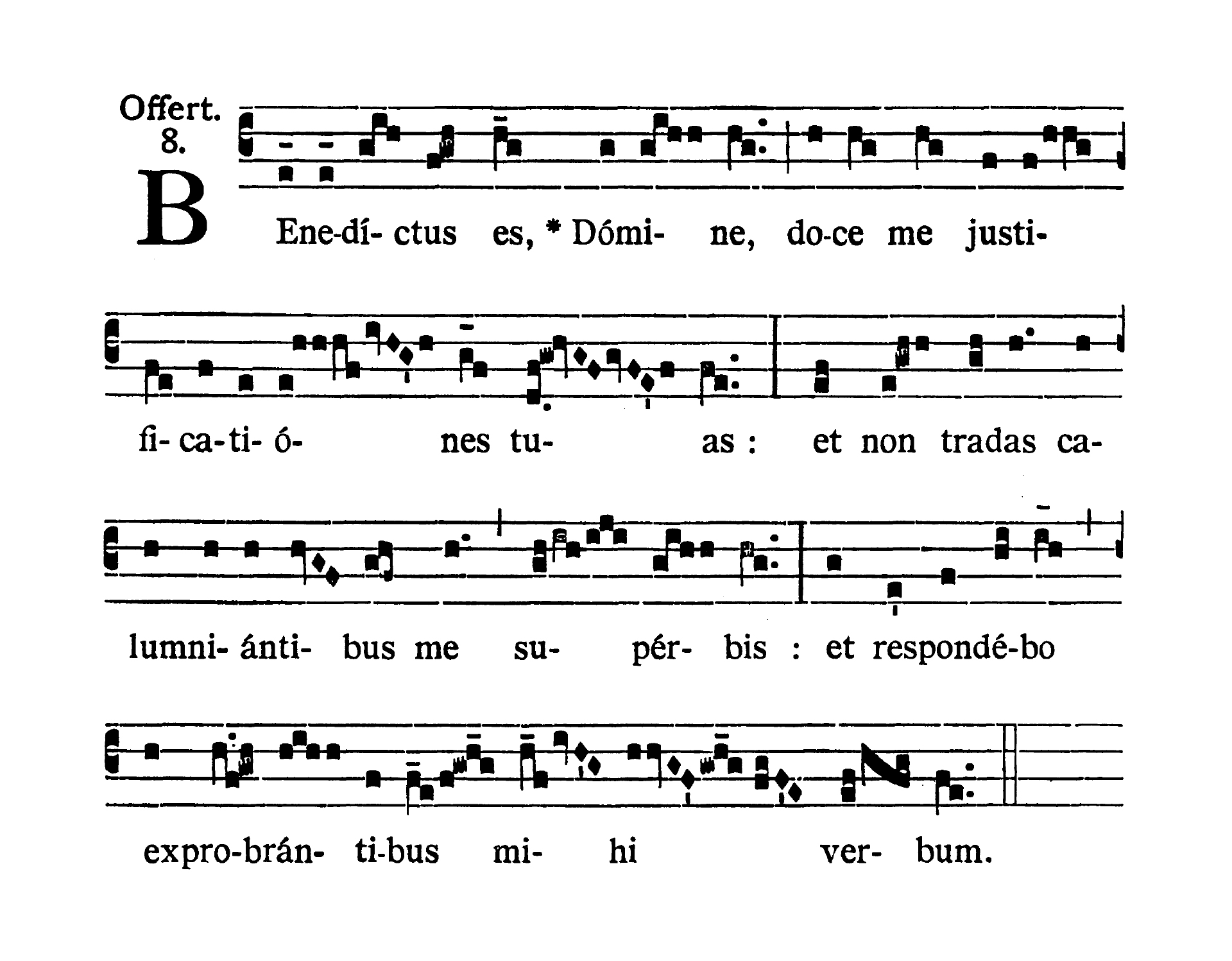 Sabbato post Dominicam I Passionis (Saturday after Passion Sunday) - Offertorium (Benedictus es)
