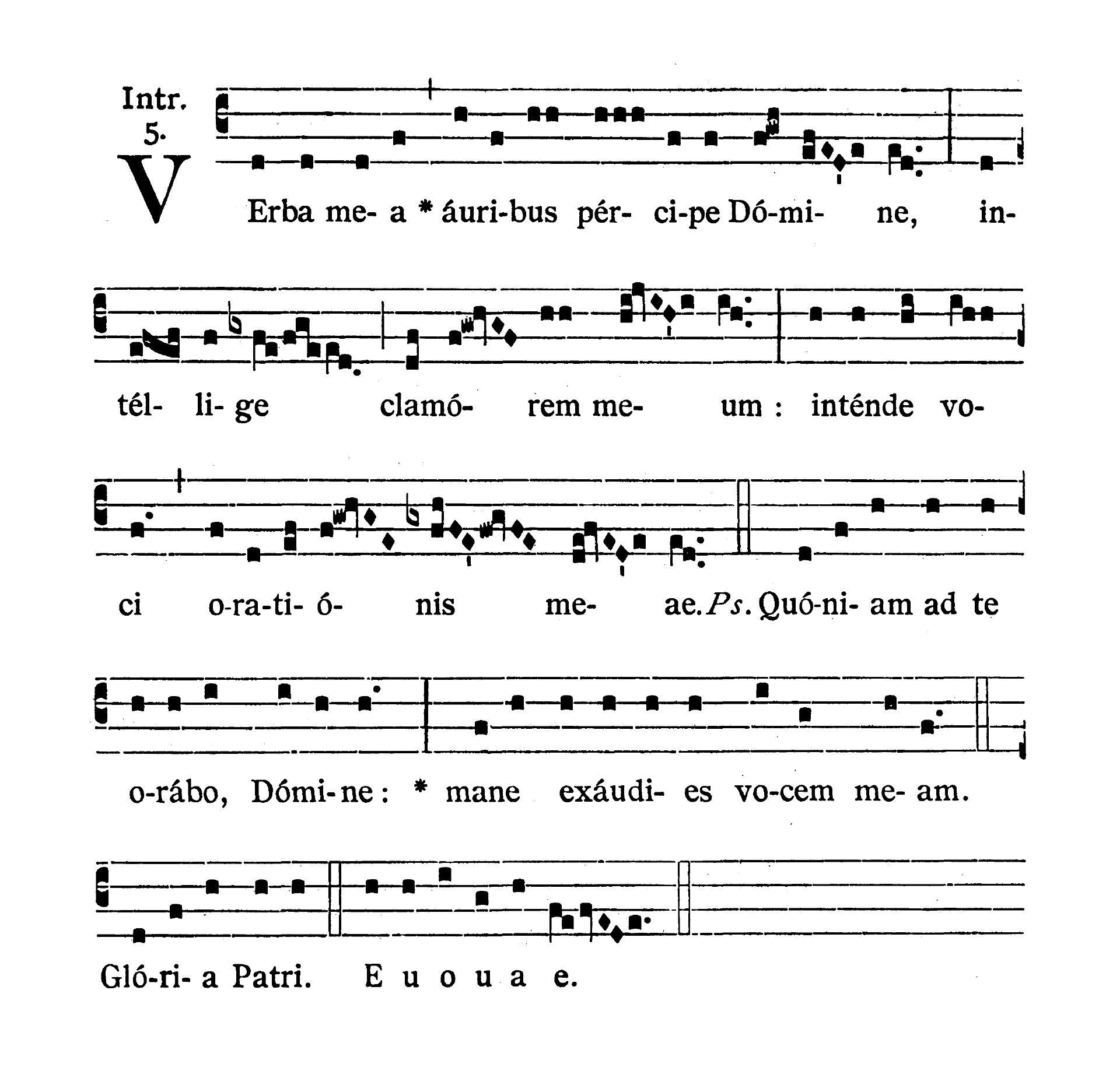 Sabbato post Dominicam III Quadragesimae (Sobota po III Niedzieli Wielkiego Postu) - Introitus (Verba mea)