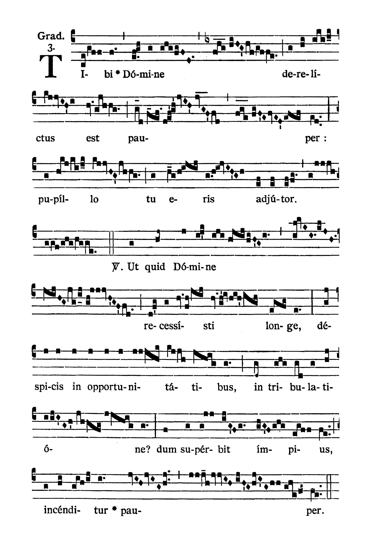 Sabbato post Dominicam IV Quadragesimae (Sobota po IV Niedzieli Wielkiego Postu) - Graduale (Tibi Domine)