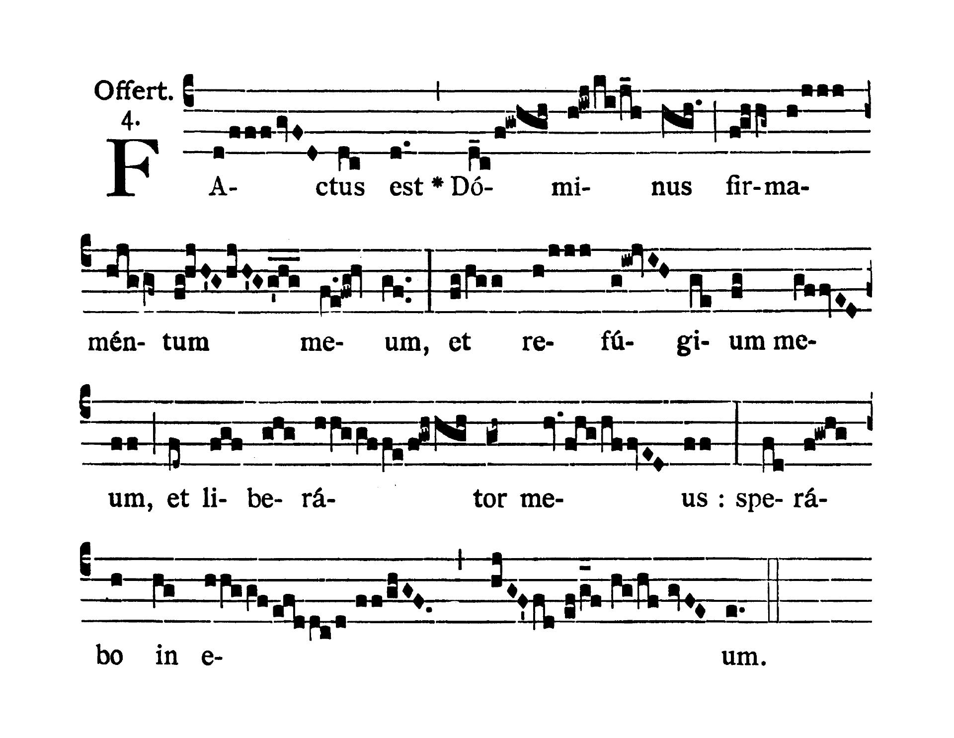 Sabbato post Dominicam IV Quadragesimae (Sobota po IV Niedzieli Wielkiego Postu) - Offertorium (Factus est)