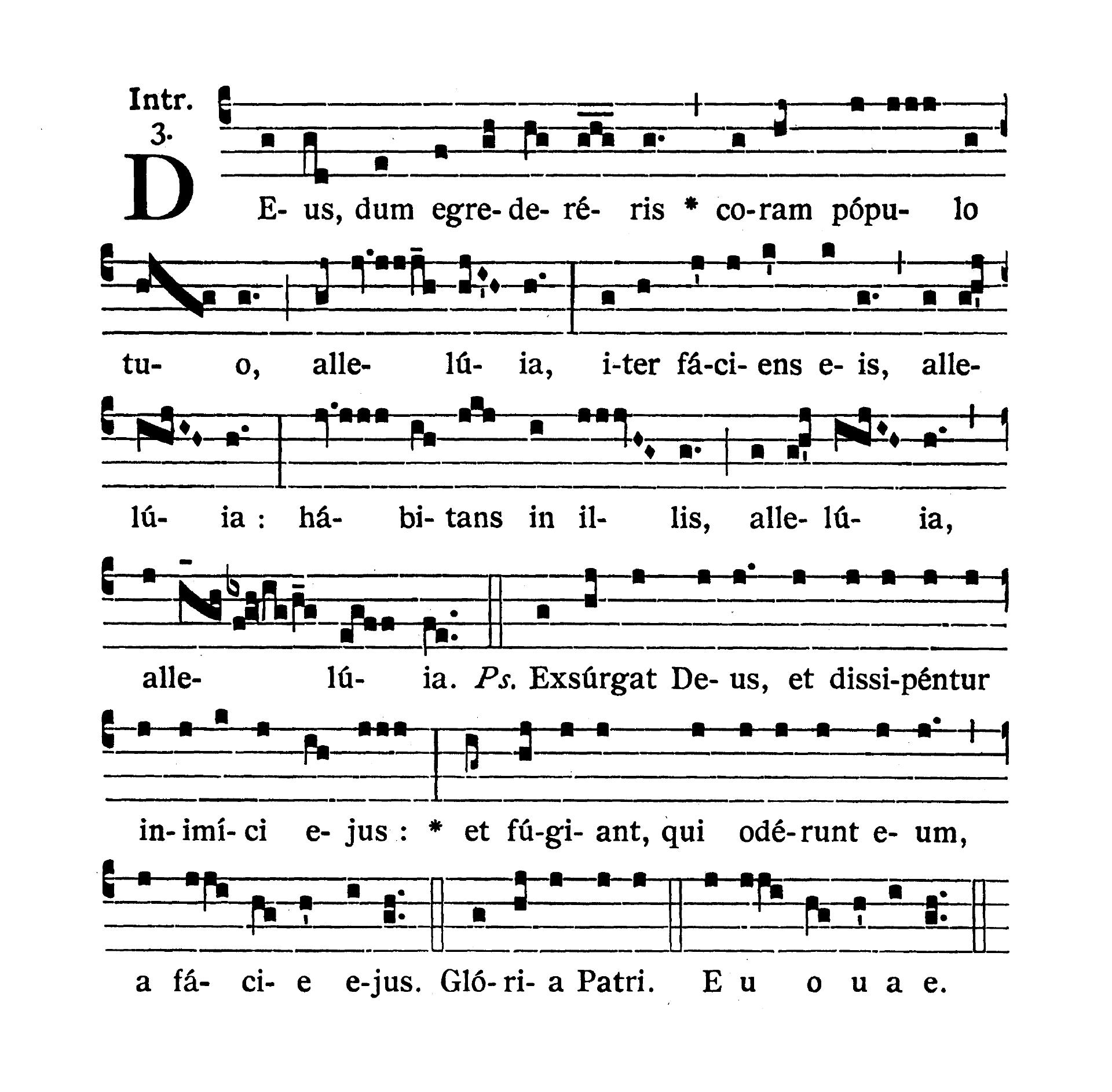 Feria quarta infra Octavam Pentecostes (Środa w oktawie Zesłania Ducha Świętego) - Introitus (Deus dum egredereris)