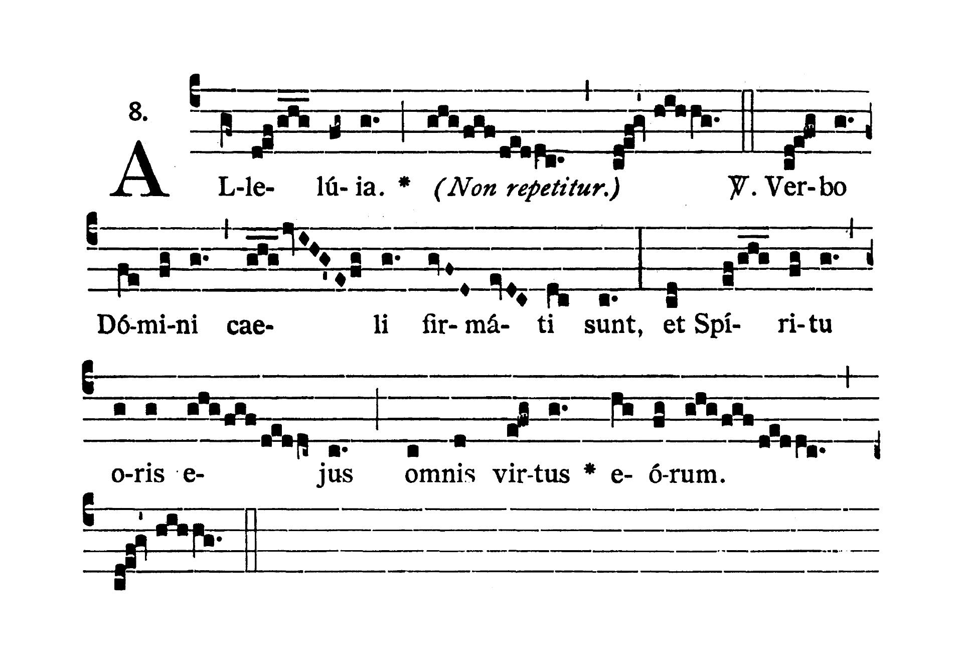 Feria quarta infra Octavam Pentecostes (Środa w oktawie Zesłania Ducha Świętego) - Alleluia prima (Verbo Domini)
