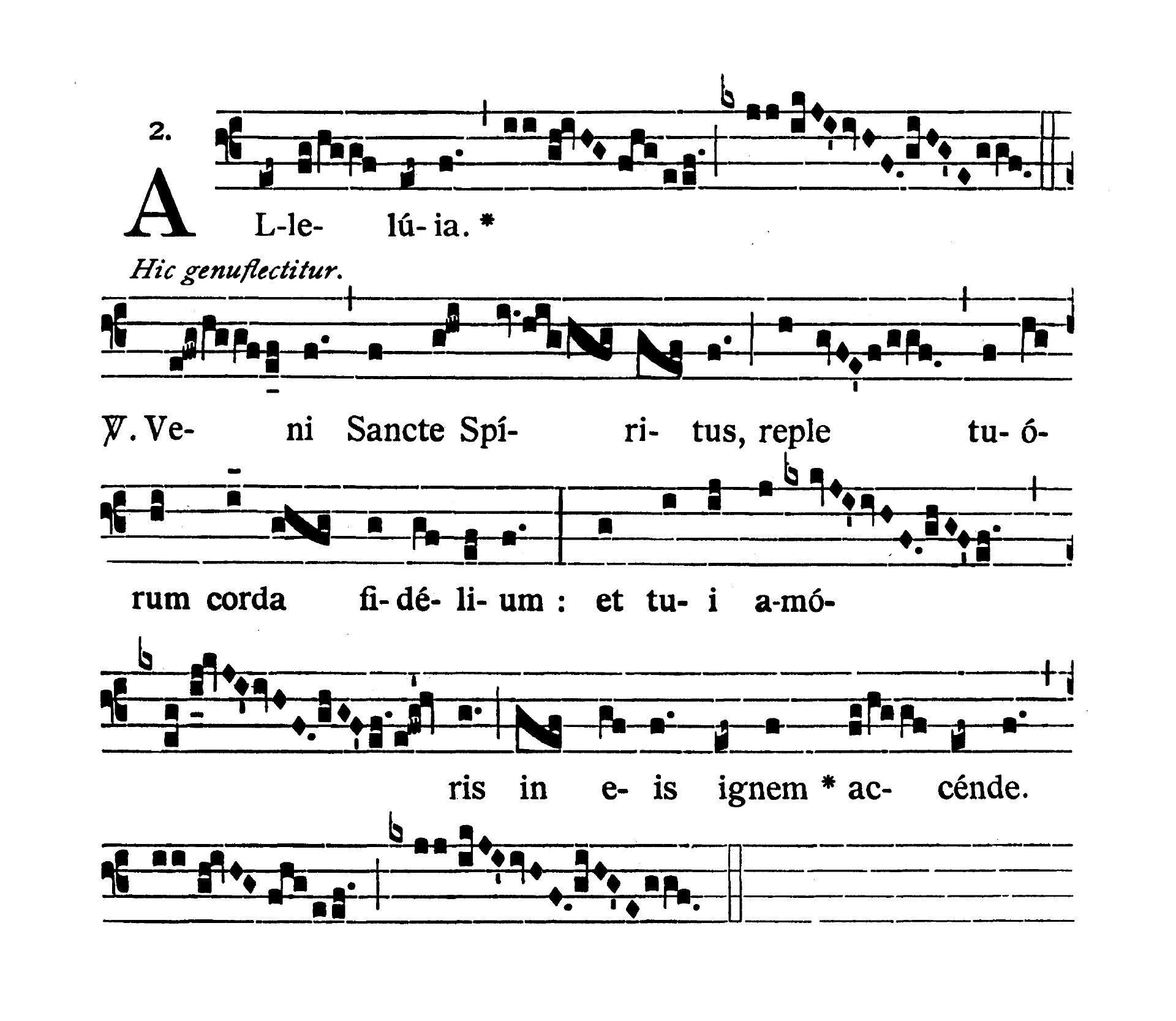 Feria quarta infra Octavam Pentecostes (Środa w oktawie Zesłania Ducha Świętego) - Alleluia secunda (Veni Sancte Spiritus)