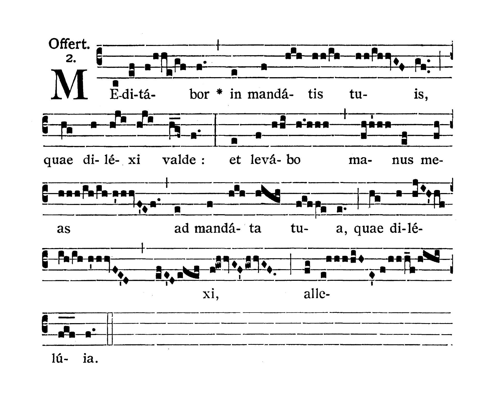 Feria quarta infra Octavam Pentecostes (Środa w oktawie Zesłania Ducha Świętego) - Offertorium (Meditabor in mandatis tuis)