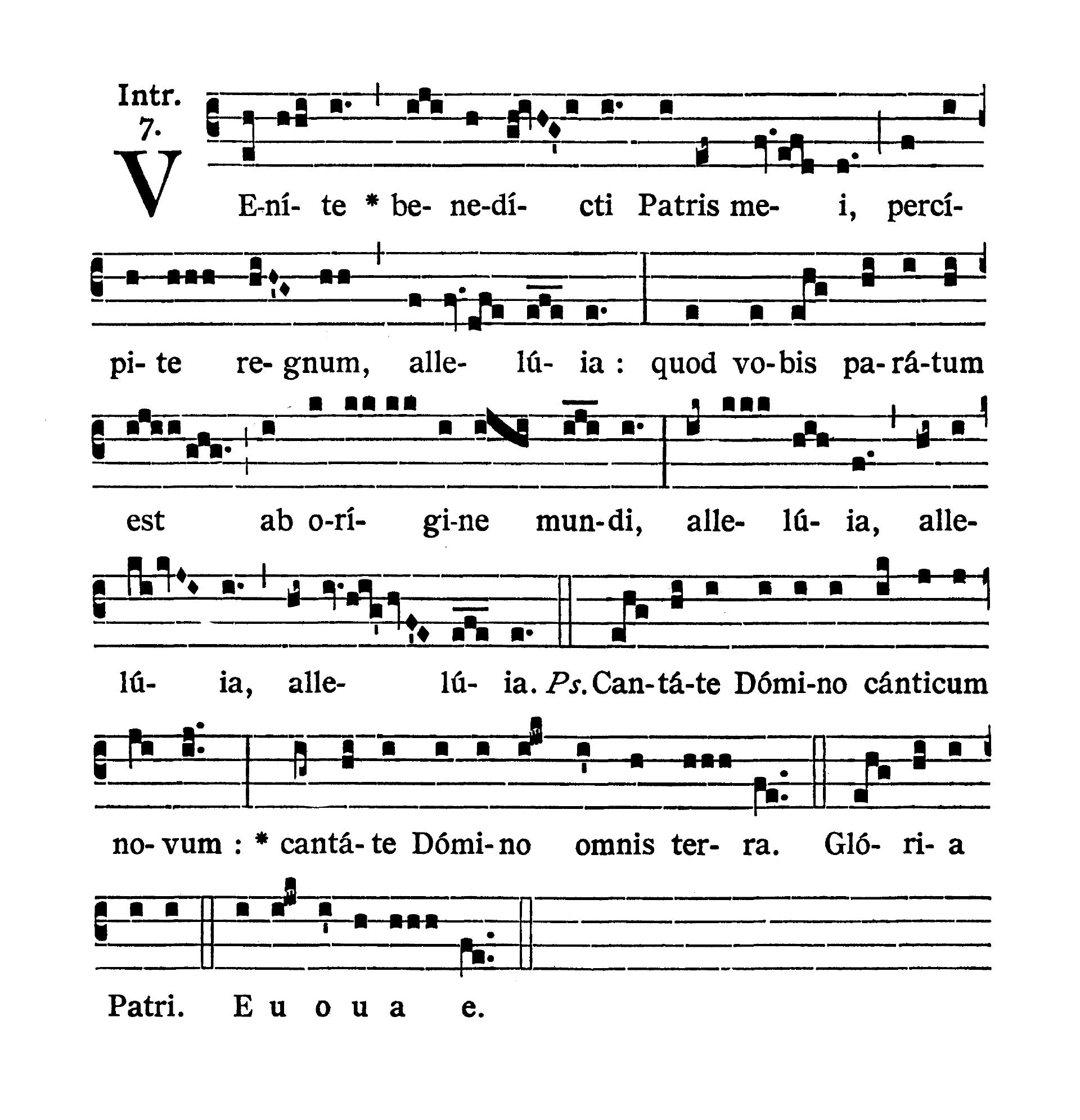Feria quarta post Pascha (Środa Wielkanocna) - Introitus (Venite benedicti)