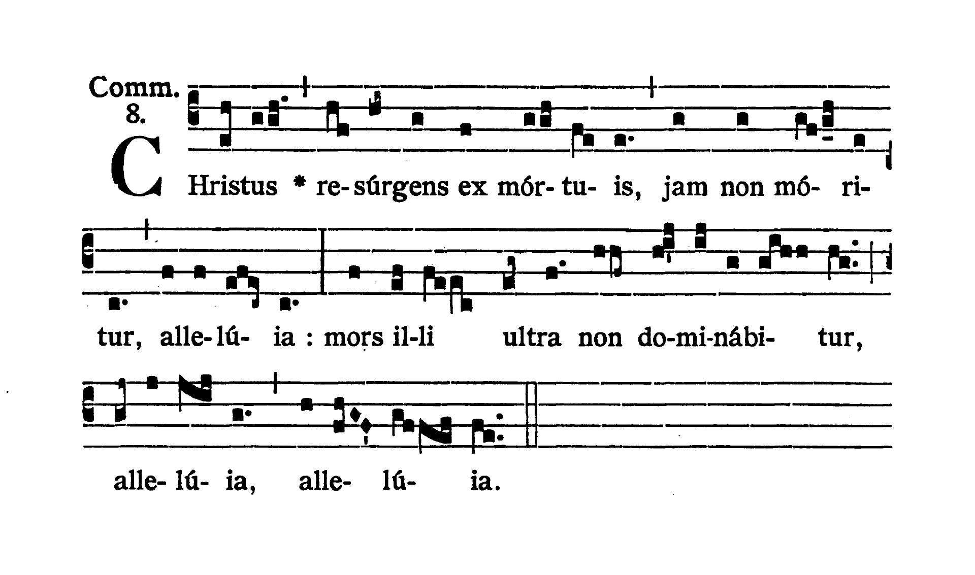 Feria quarta post Pascha (Środa Wielkanocna) - Communio (Christus resurgens)