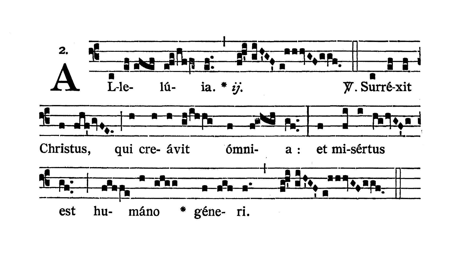 Feria quinta post Pascha (Czwartek Wielkanocny) - Alleluia (Surrexit Christus)
