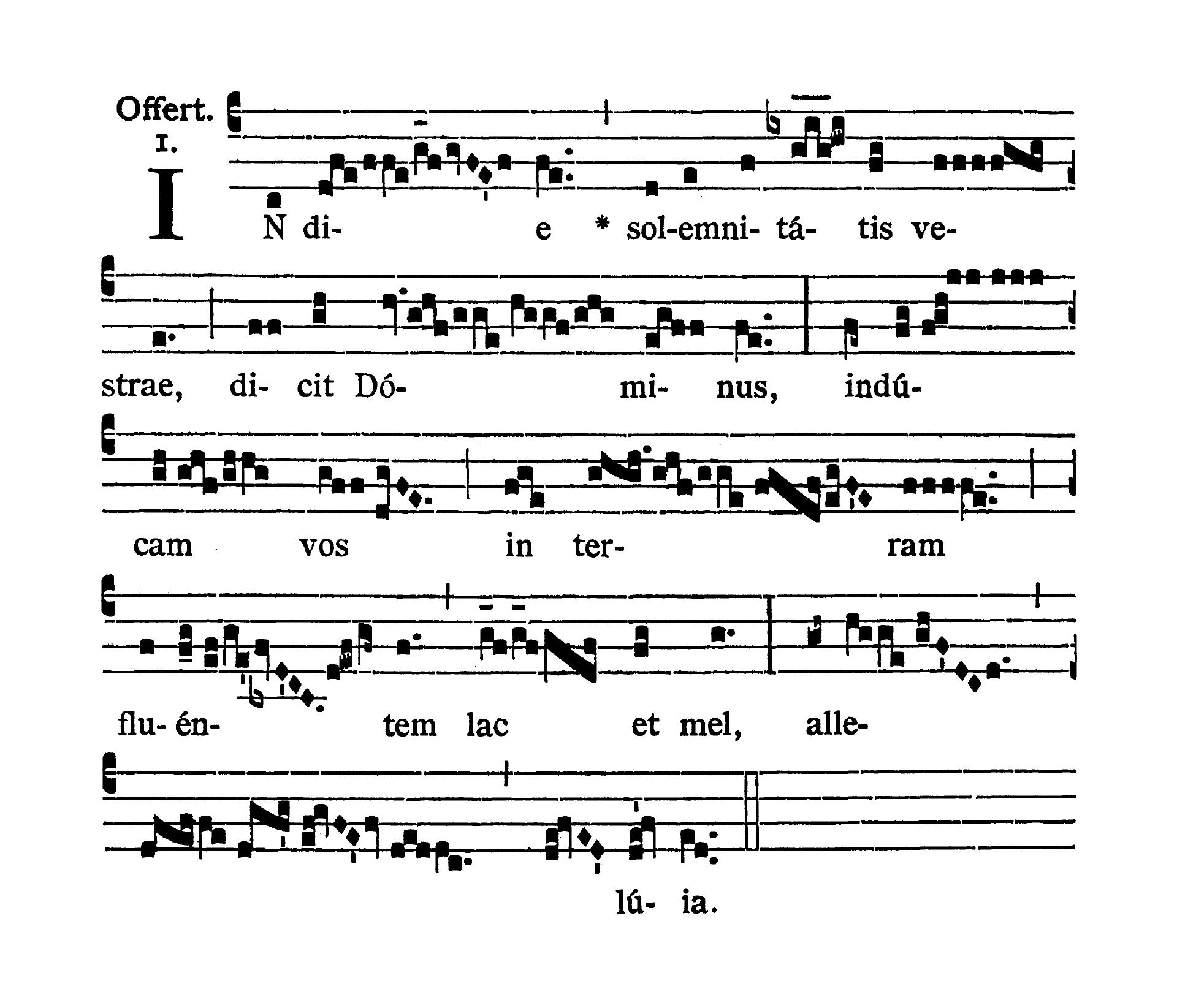 Feria quinta post Pascha (Czwartek Wielkanocny) - Offertorium (In die solemnitatis)
