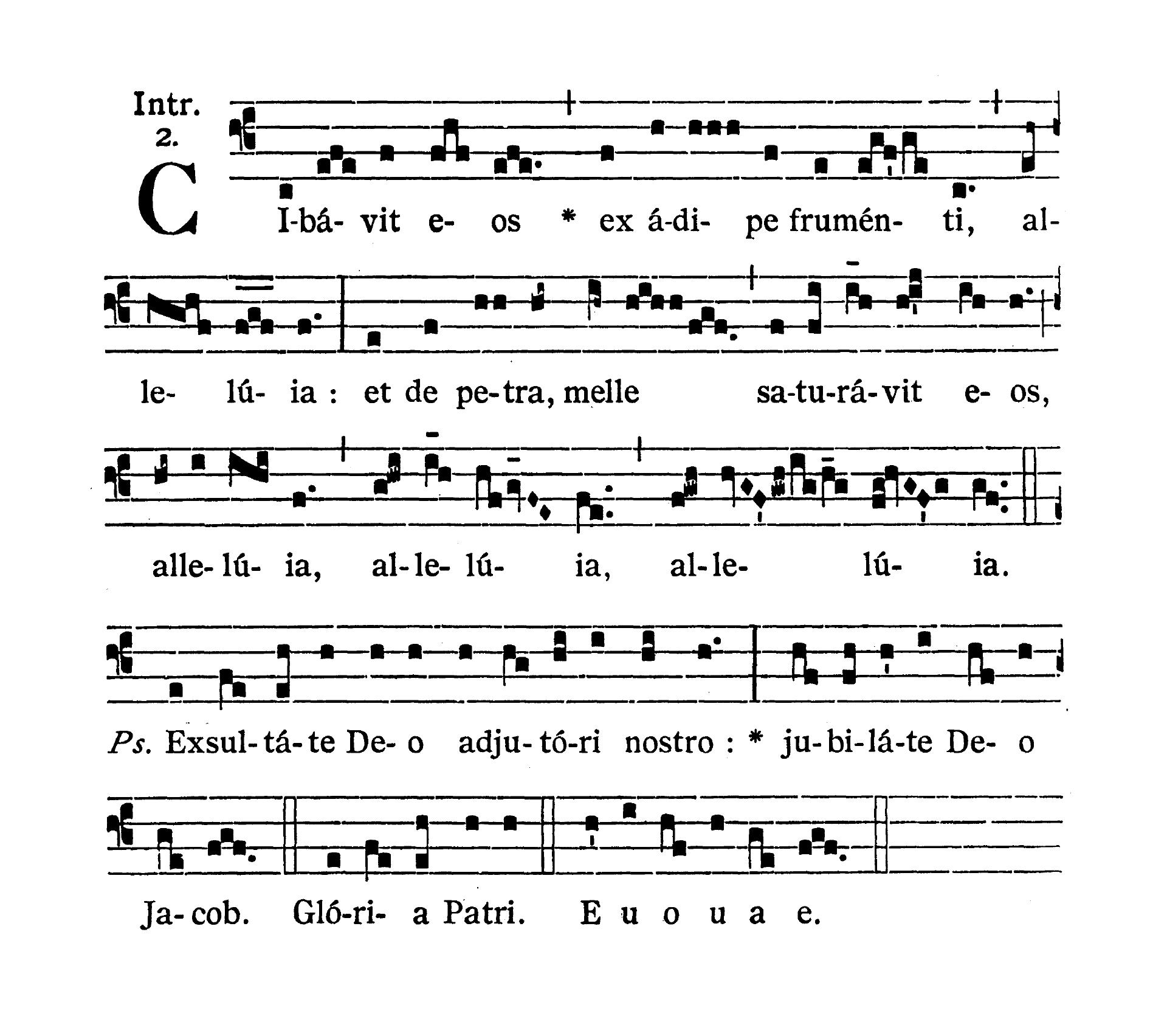 Feria secunda infra Octavam Pentecostes (Poniedziałek w oktawie Zesłania Ducha Świętego) - Introitus (Cibavit eos)
