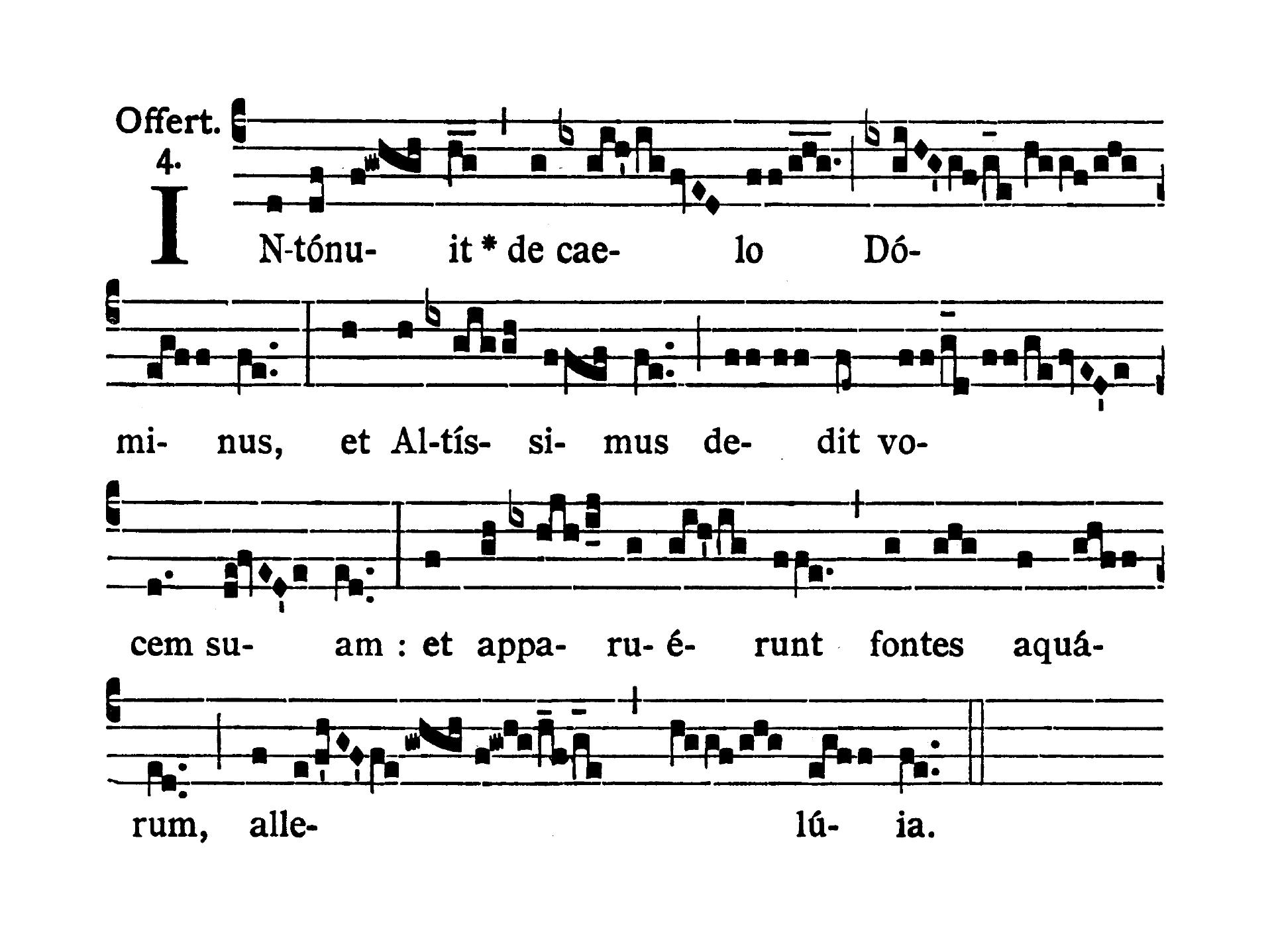 Feria secunda infra Octavam Pentecostes (Poniedziałek w oktawie Zesłania Ducha Świętego) - Offertorium (Intonuit de caelo)
