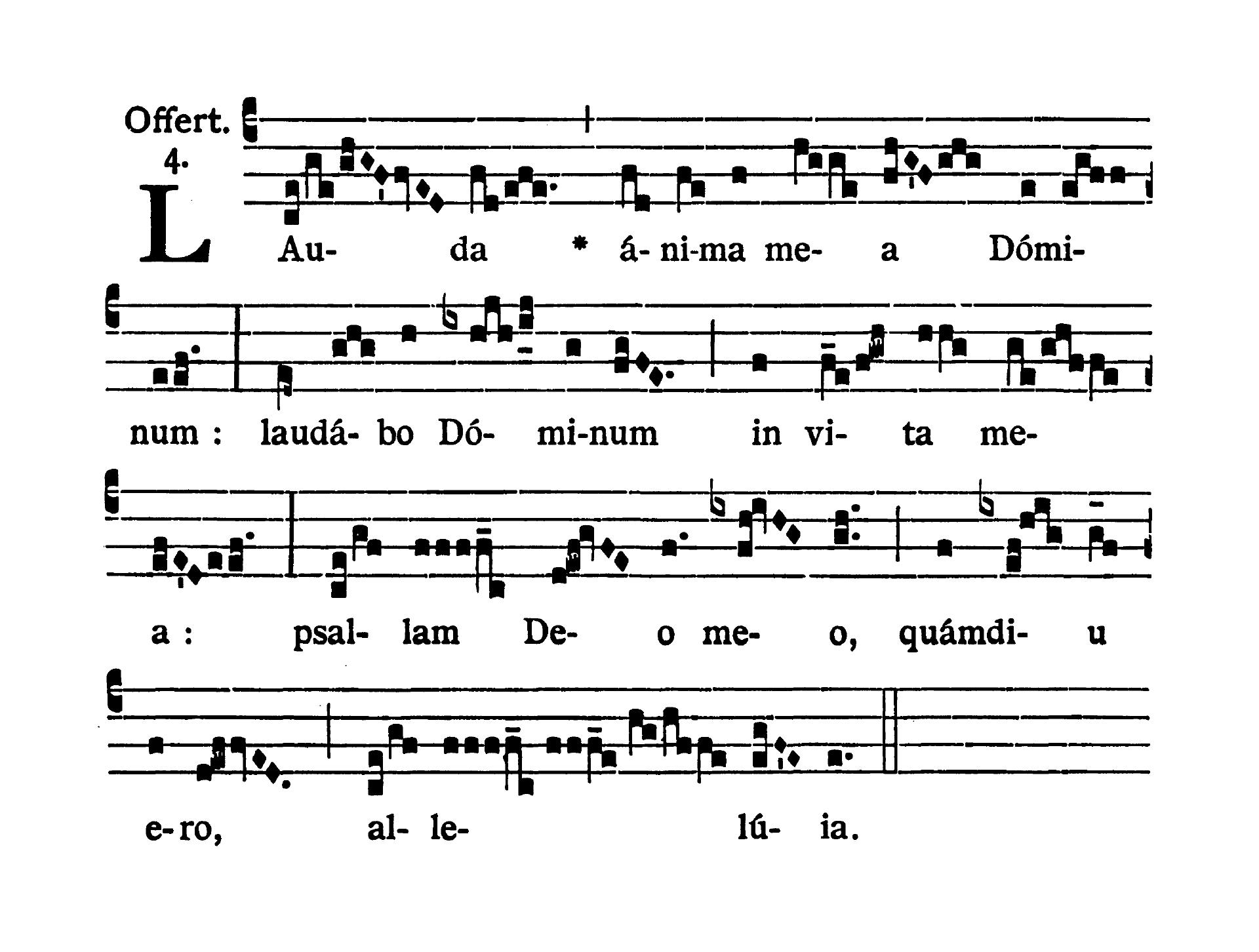 Feria sexta infra Octavam Pentecostes (Piątek w oktawie Zesłania Ducha Świętego) - Offertorium (Lauda anima mea)