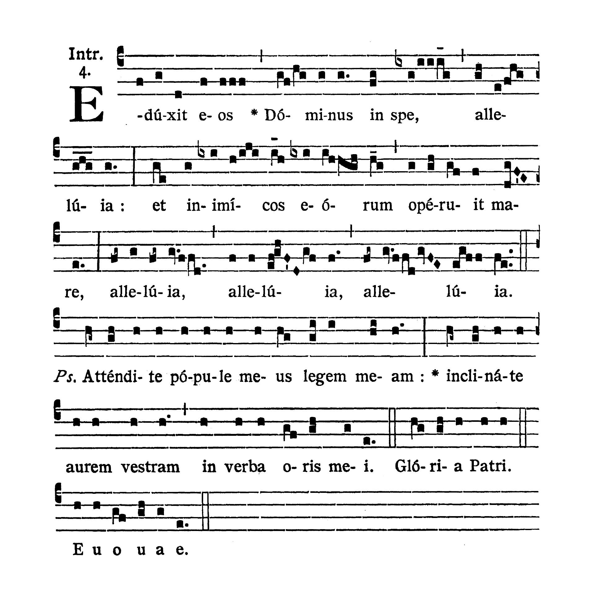 Feria sexta post Pascha (Easter Friday) - Introitus (Eduxit eos Dominus)
