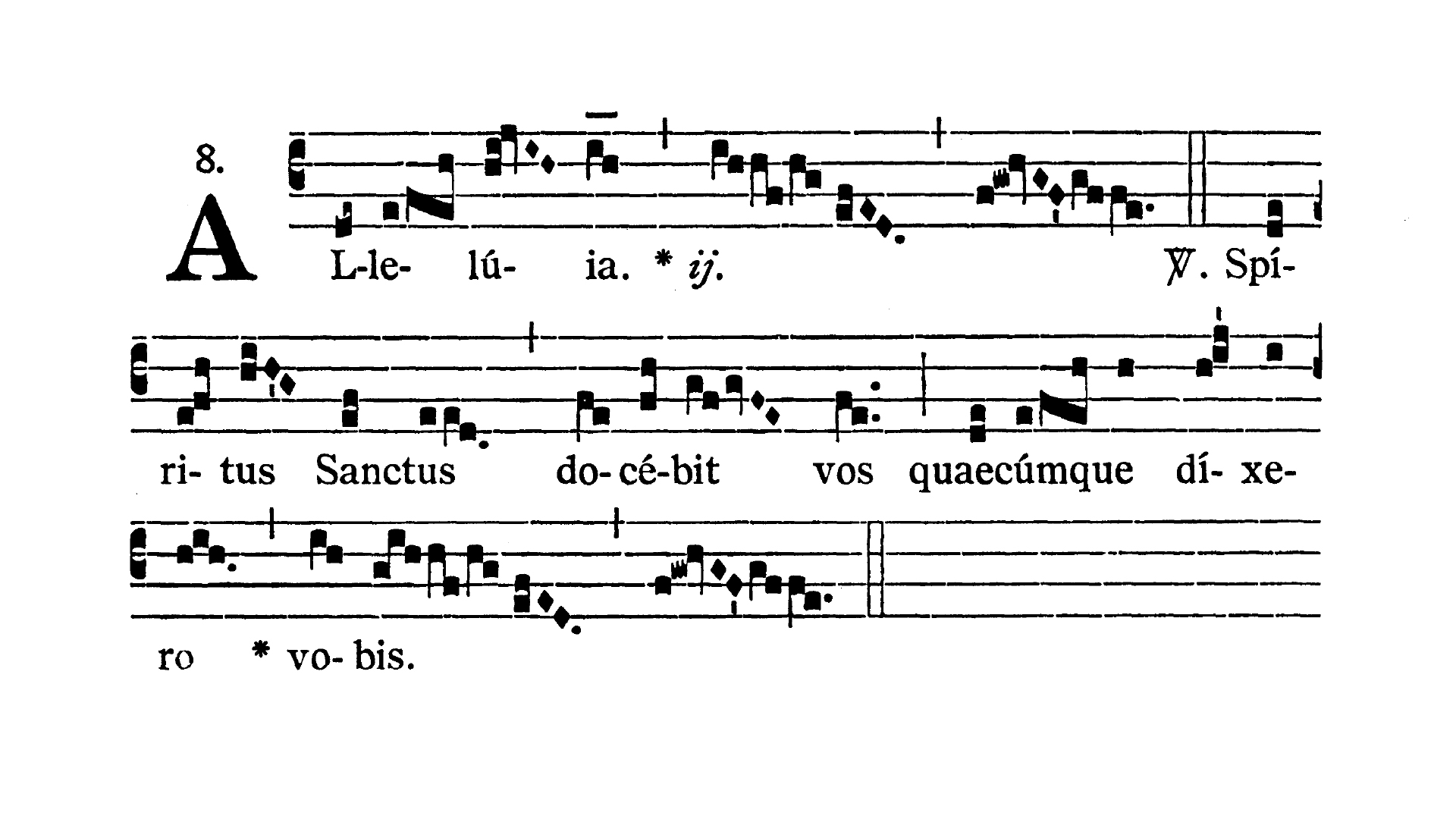 Feria tertia infra Octavam Pentecostes (Wtorek w oktawie Zesłania Ducha Świętego) - Alleluia prima (Spiritus Sanctus)
