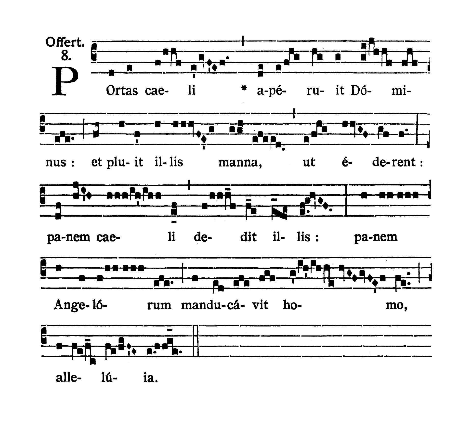 Feria tertia infra Octavam Pentecostes (Wtorek w oktawie Zesłania Ducha Świętego) - Offertorium (Portas caeli)