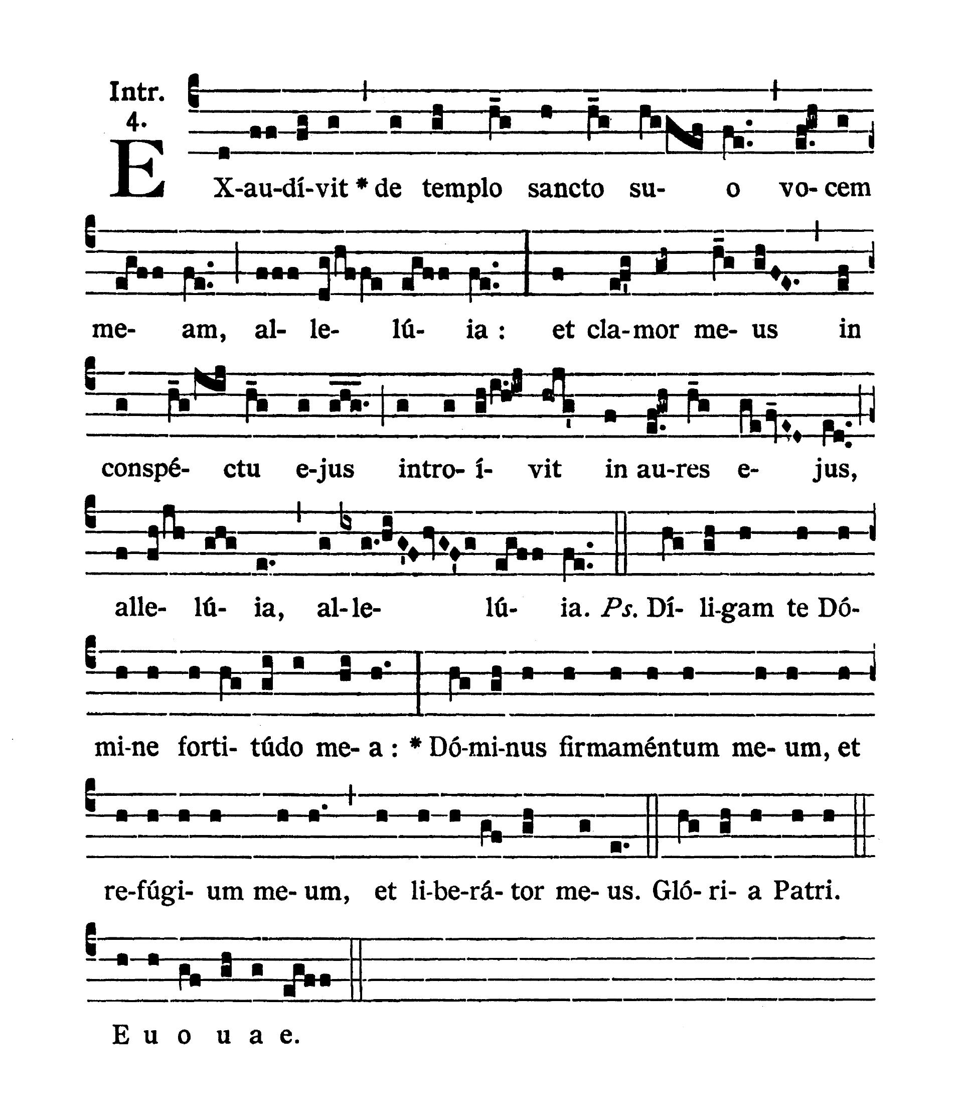 In Litaniis Majoribus et in Minoribus Tempore Paschale (Litanie większe i mniejsze w okresie Wielkanocnym) - Introitus (Exaudivit)