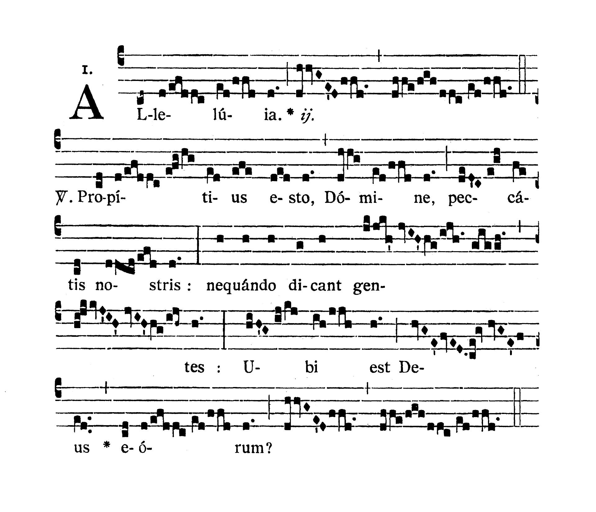 In Litaniis Majoribus et in Minoribus Tempore Paschale (Litanie większe i mniejsze w okresie Wielkanocnym) - Alleluia prima (Propitius esto)