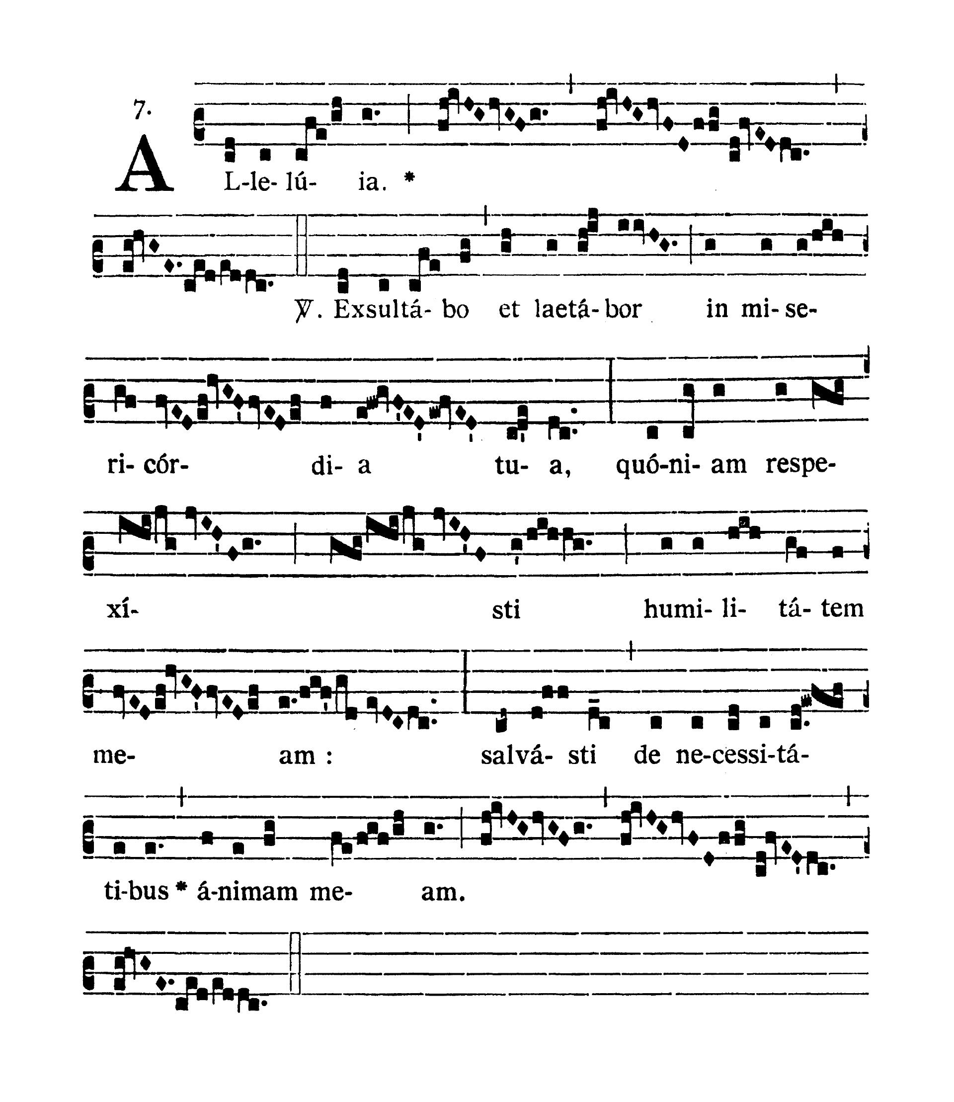 In Litaniis Majoribus et in Minoribus Tempore Paschale (Litanie większe i mniejsze w okresie Wielkanocnym) - Alleluia secunda (Exsultabo)