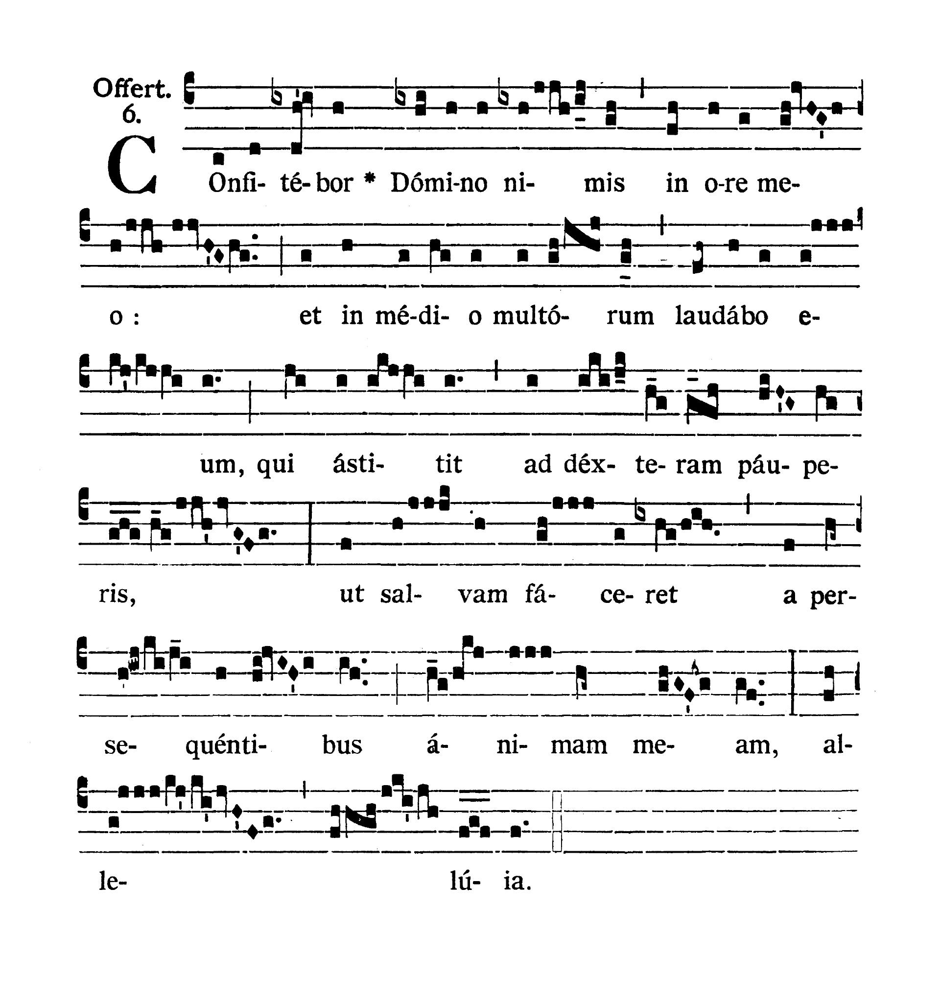 In Litaniis Majoribus et in Minoribus Tempore Paschale (Litanie większe i mniejsze w okresie Wielkanocnym) - Offertorium (Confitebor Domino)